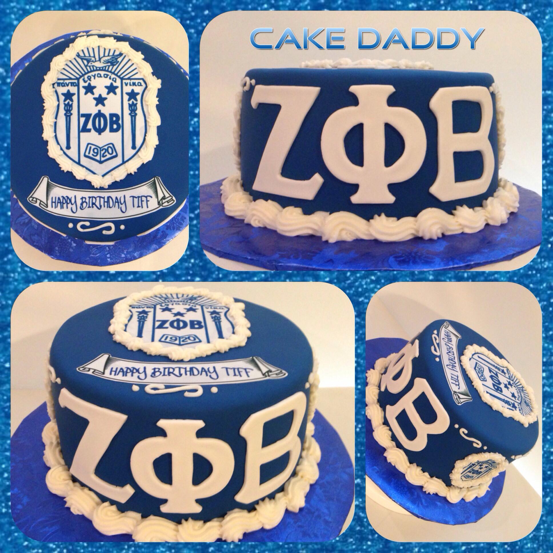 Zeta Phi Beta birthday cake