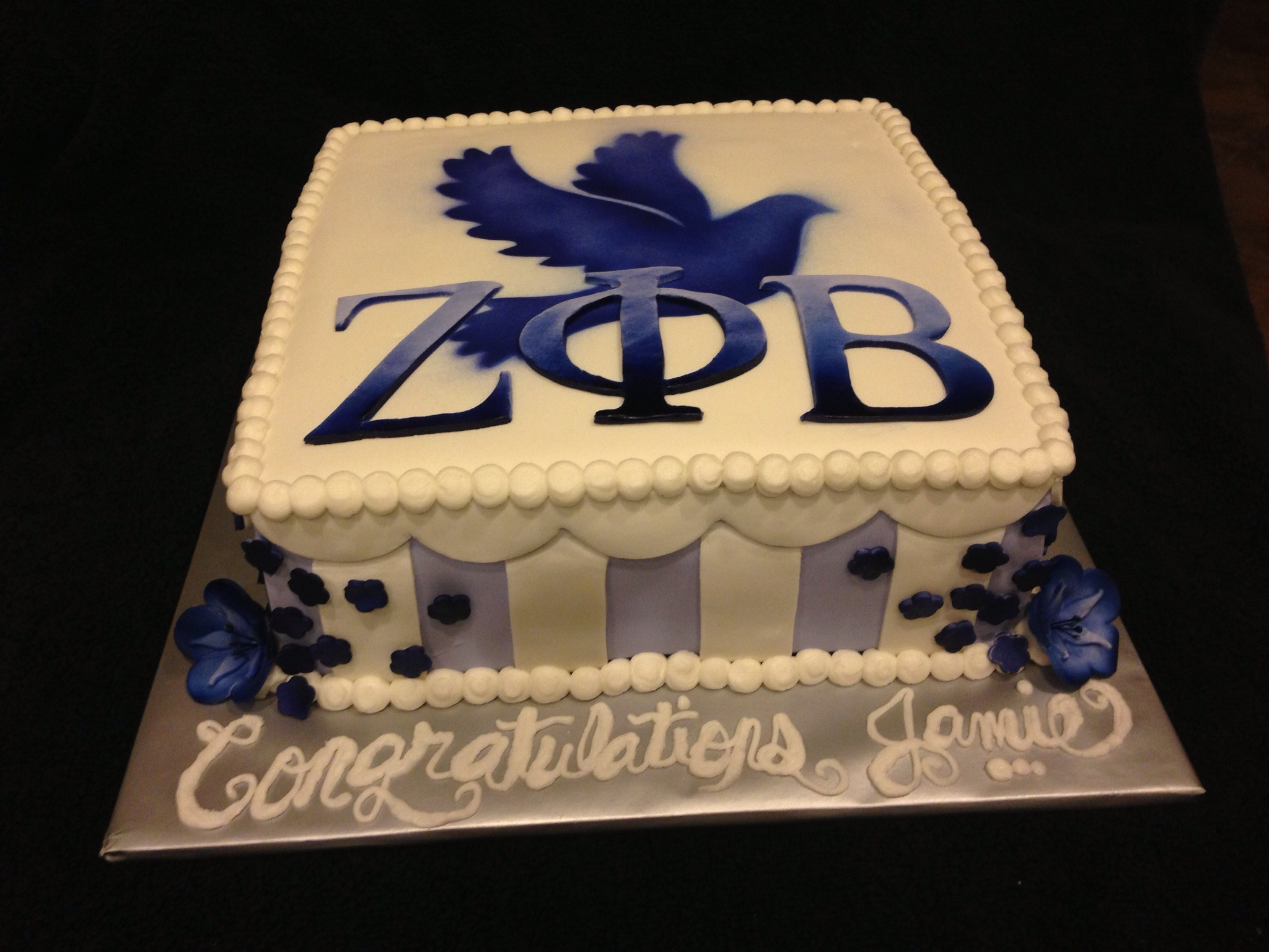 Zeta Phi Beta cake