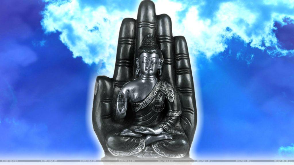 Lord Buddha Seated On Lotus