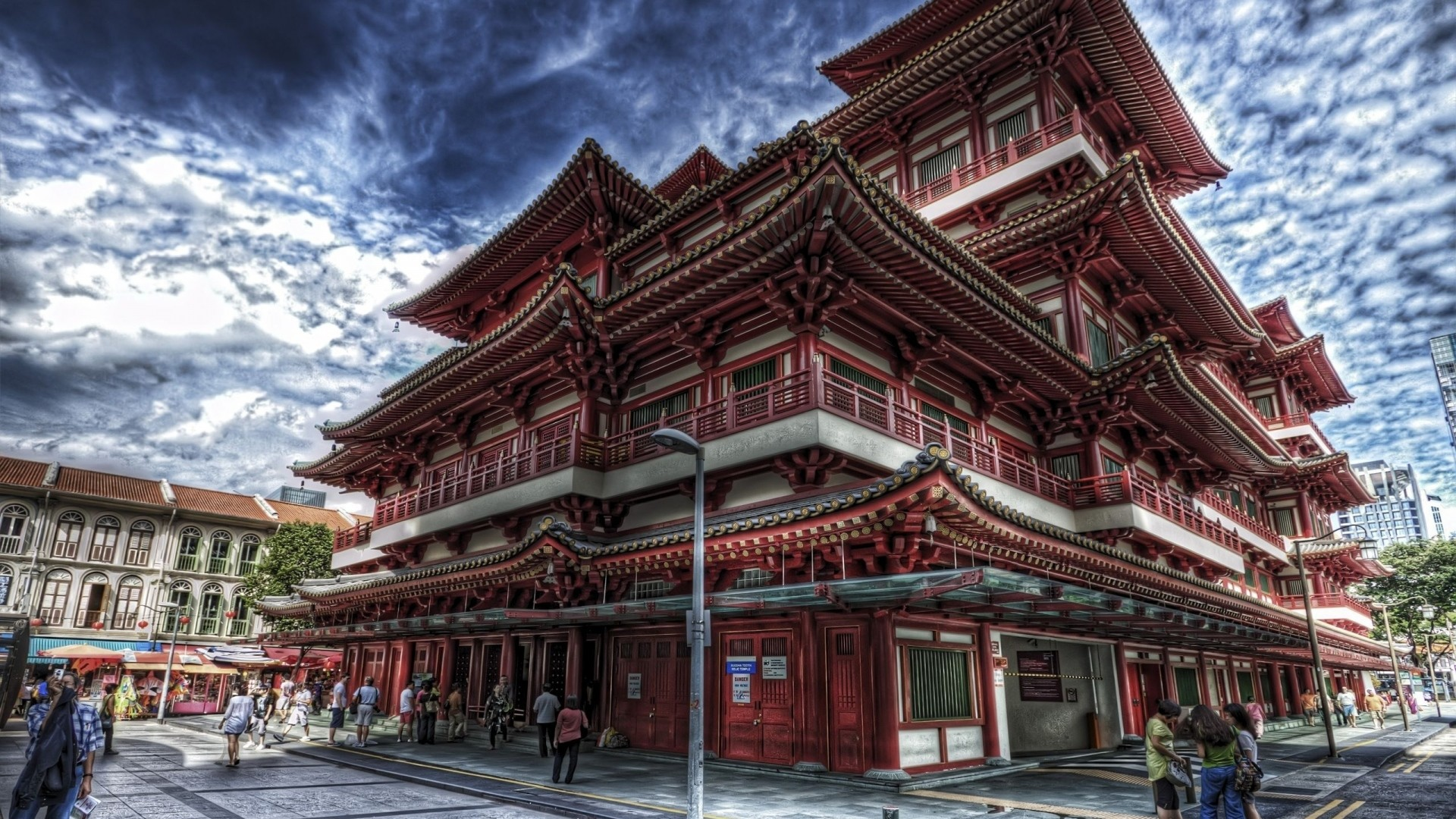 Preview wallpaper singapore, chinatown, buddha, tooth relic, temple  1920×1080