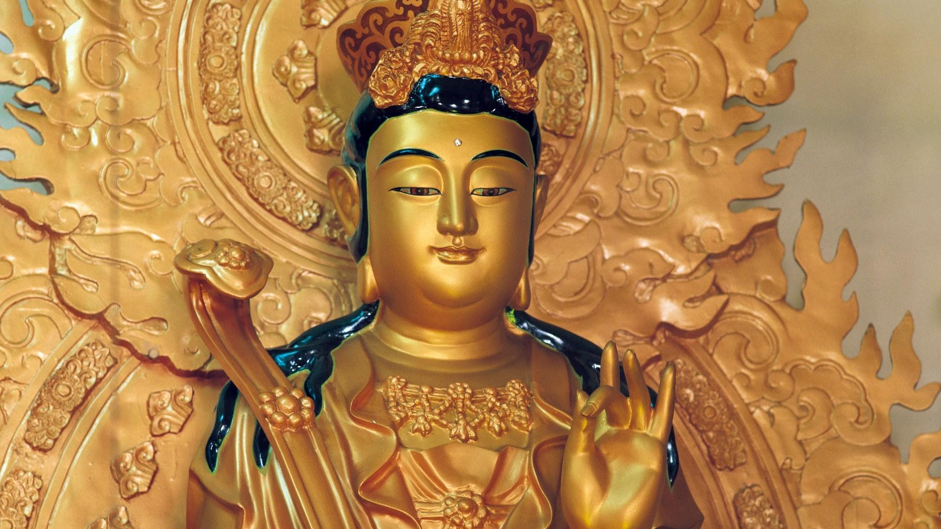 Wallpaper statue, gold, china