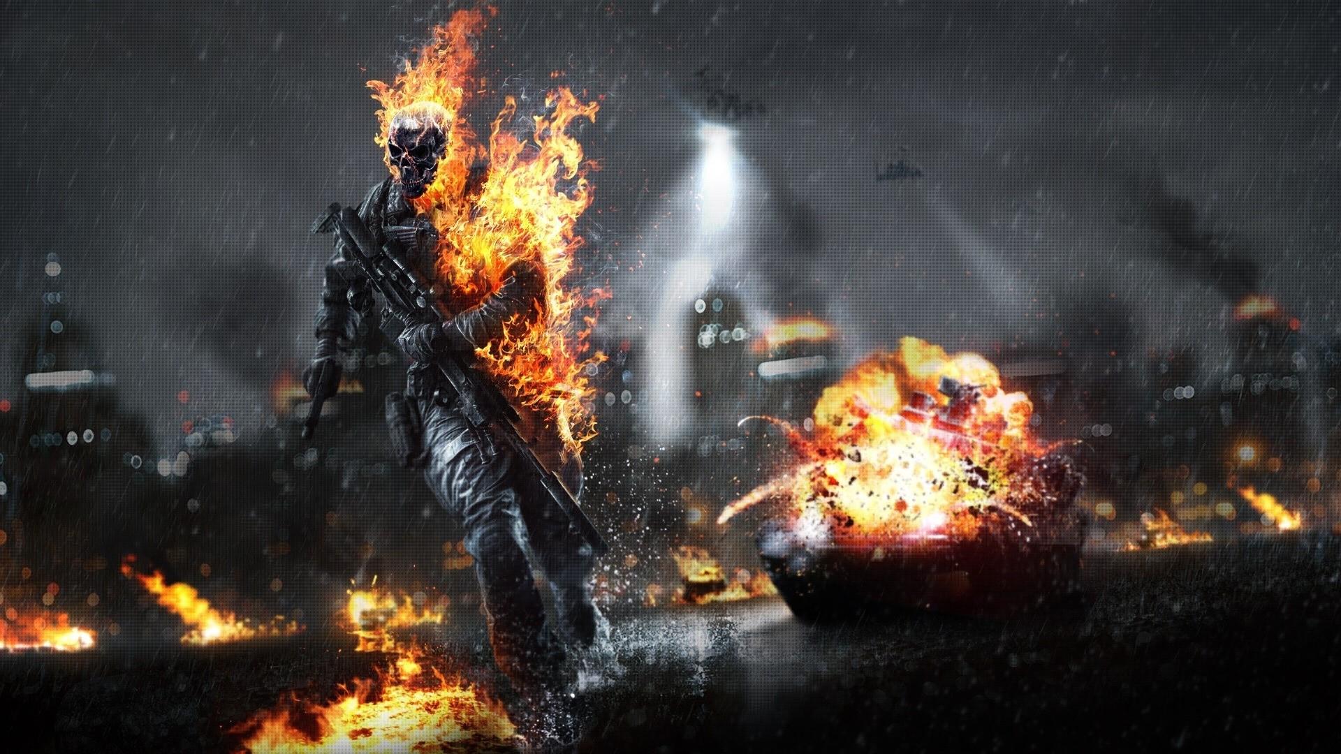 Battlefield 4 Guns Skeleton Skull Tanks Video Games Weapons …