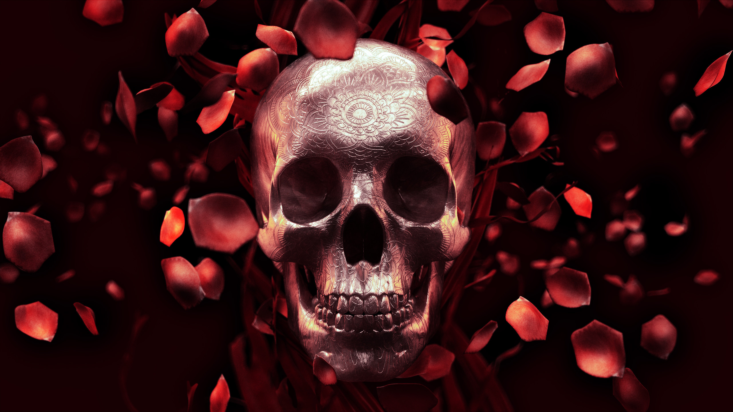 Skull And Roses Wallpaper High Quality Resolution #901 • Other at .