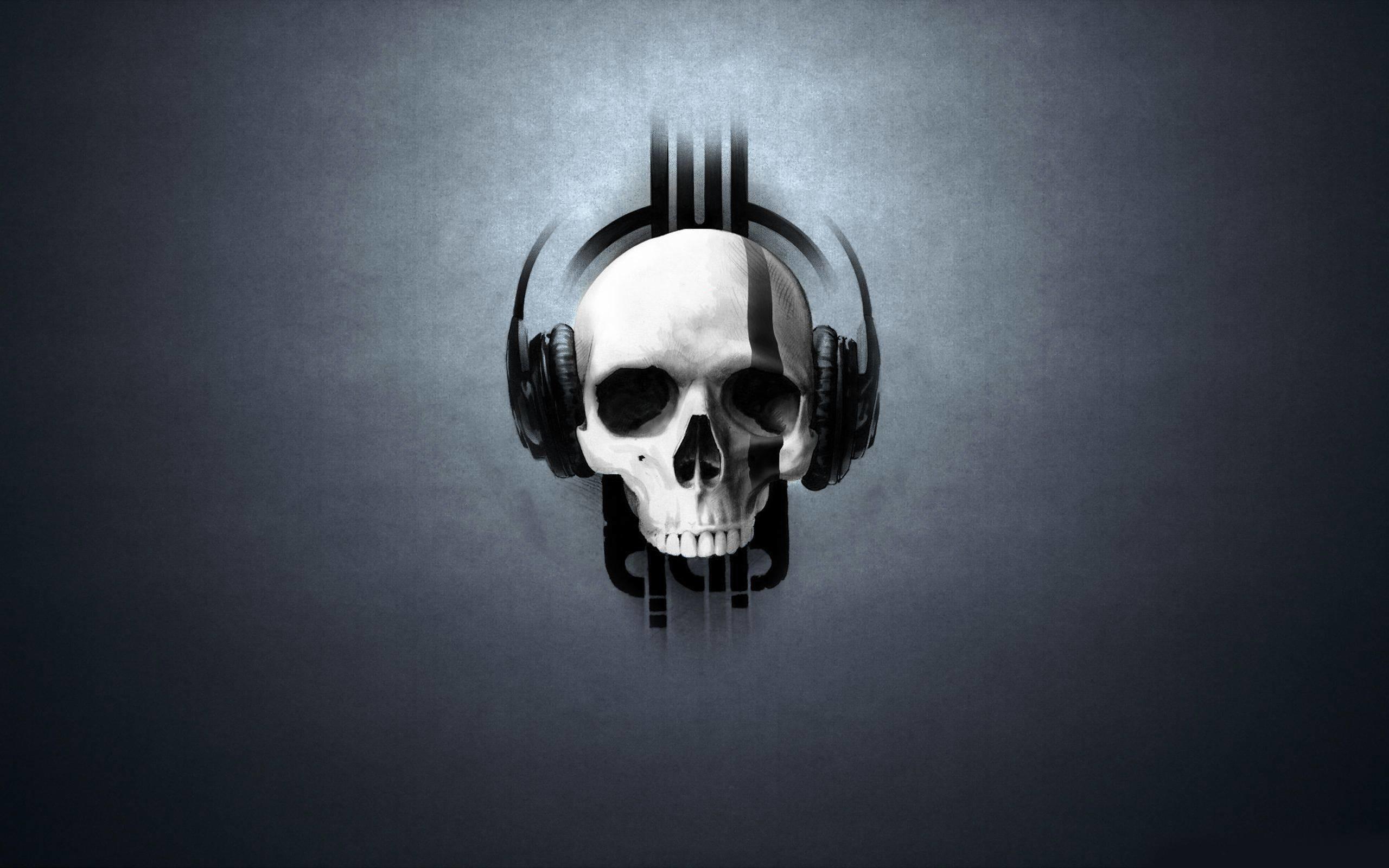 3D : Skull Headphones Wallpaper 1600x2560px Skull Wallpaper. Skull .