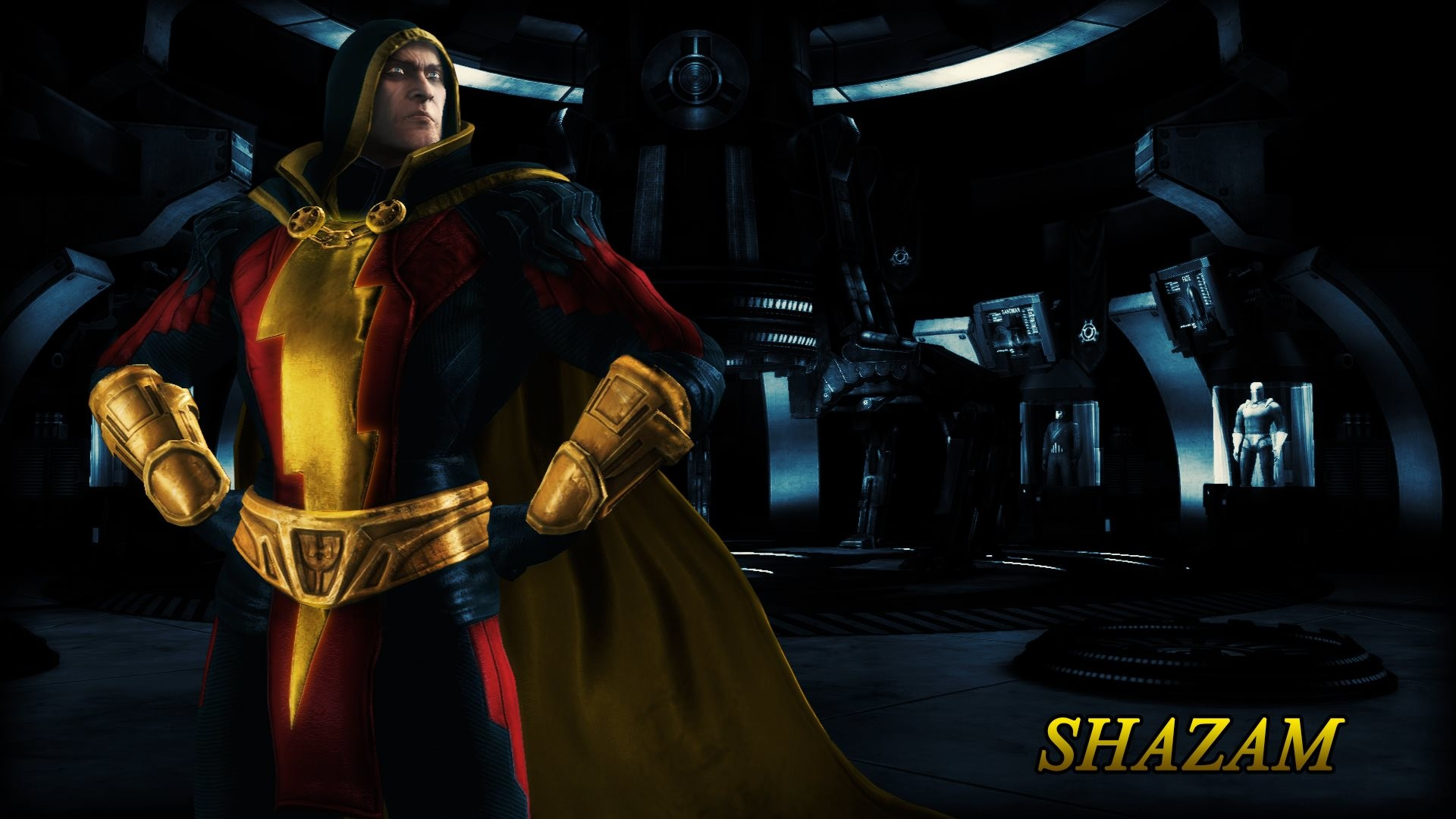 In the 7th wallpaper is Shazam (Regime) from Injustice – Gods Among Us