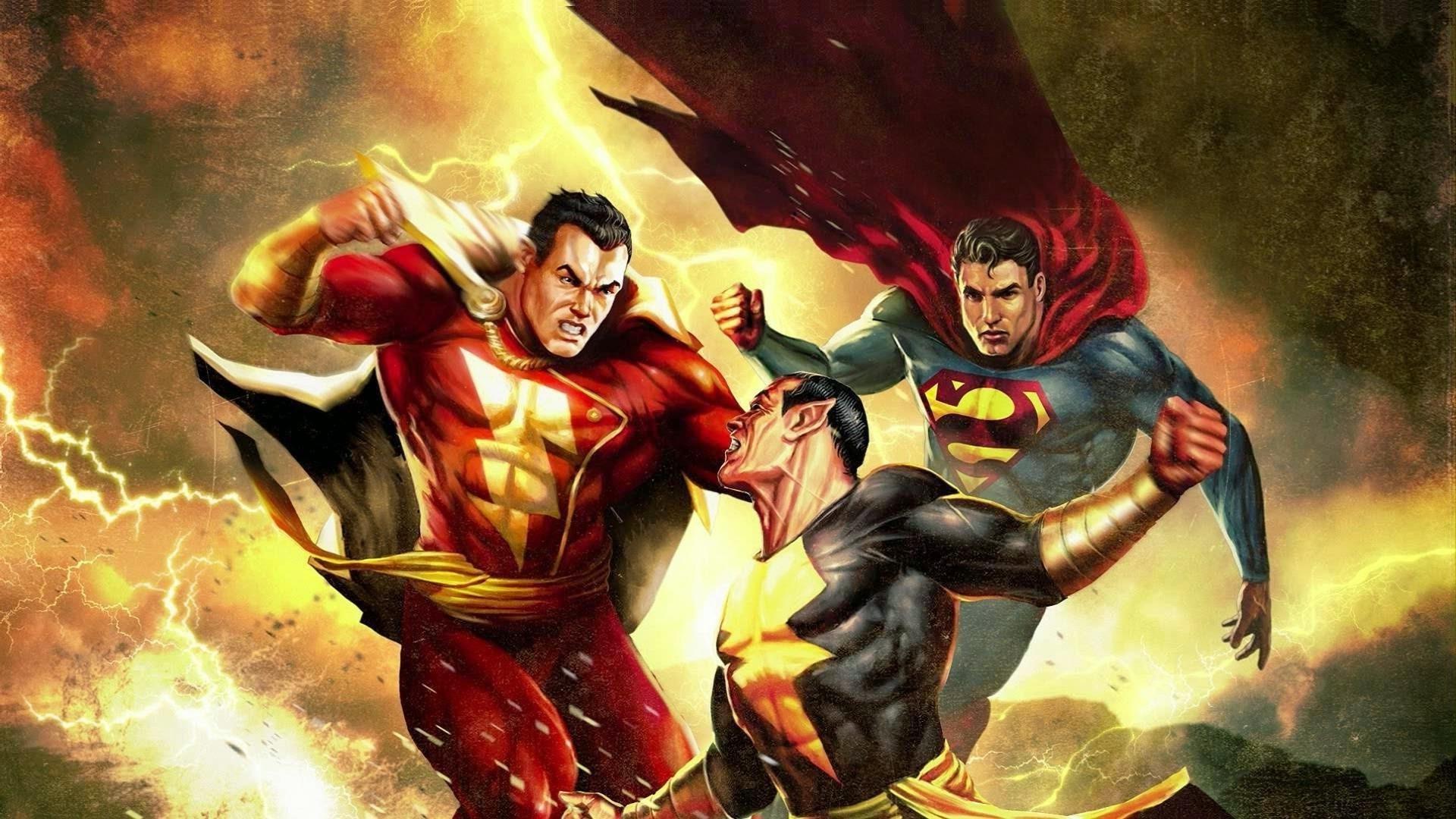 #Shazam vs. #BlackAdam vs. #Superman #EpicWallpaper XD