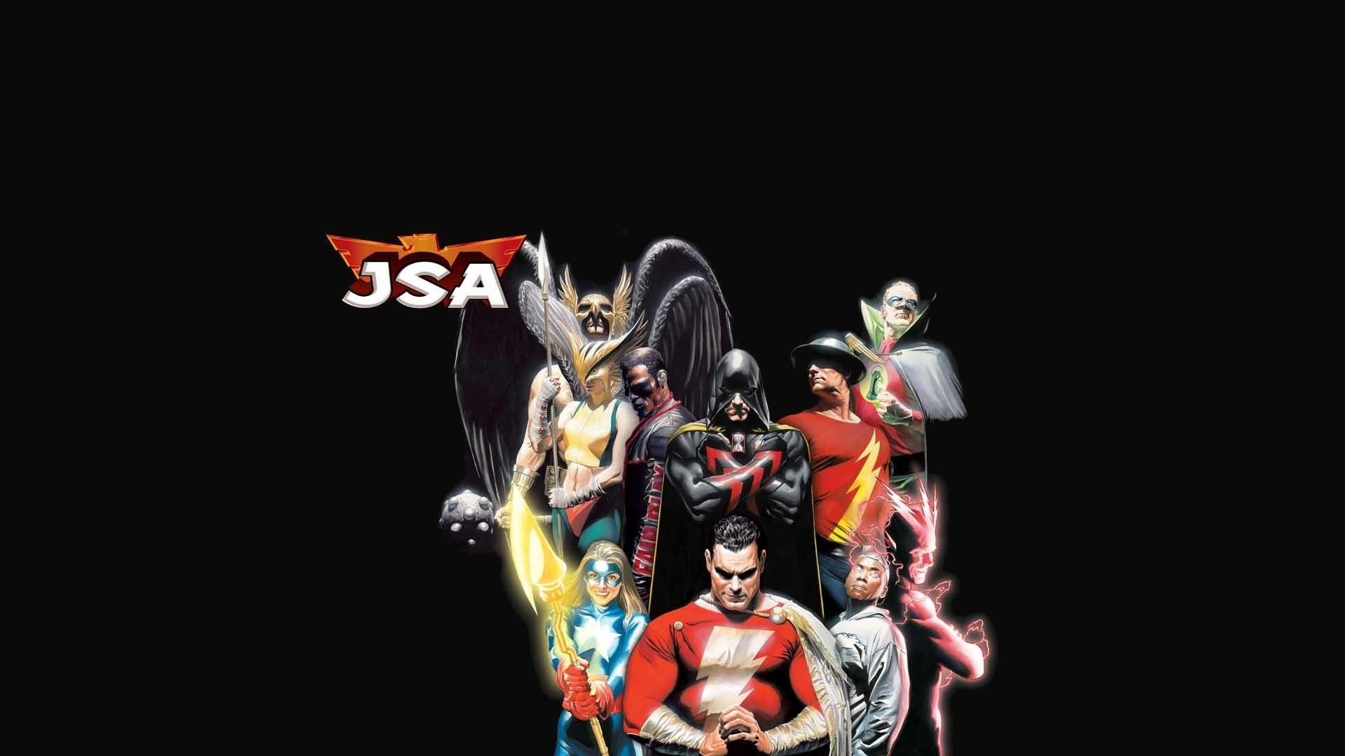 Comics – Justice Society of America Hawkgirl Flash Green Lantern Shazam  Wallpaper