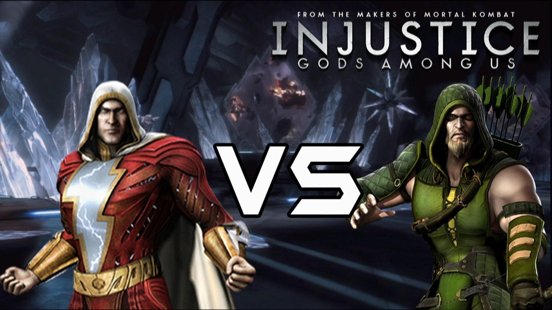 Injustice Gods Among Us – Shazam vs Green Arrow with Lore & Skins – YouTube