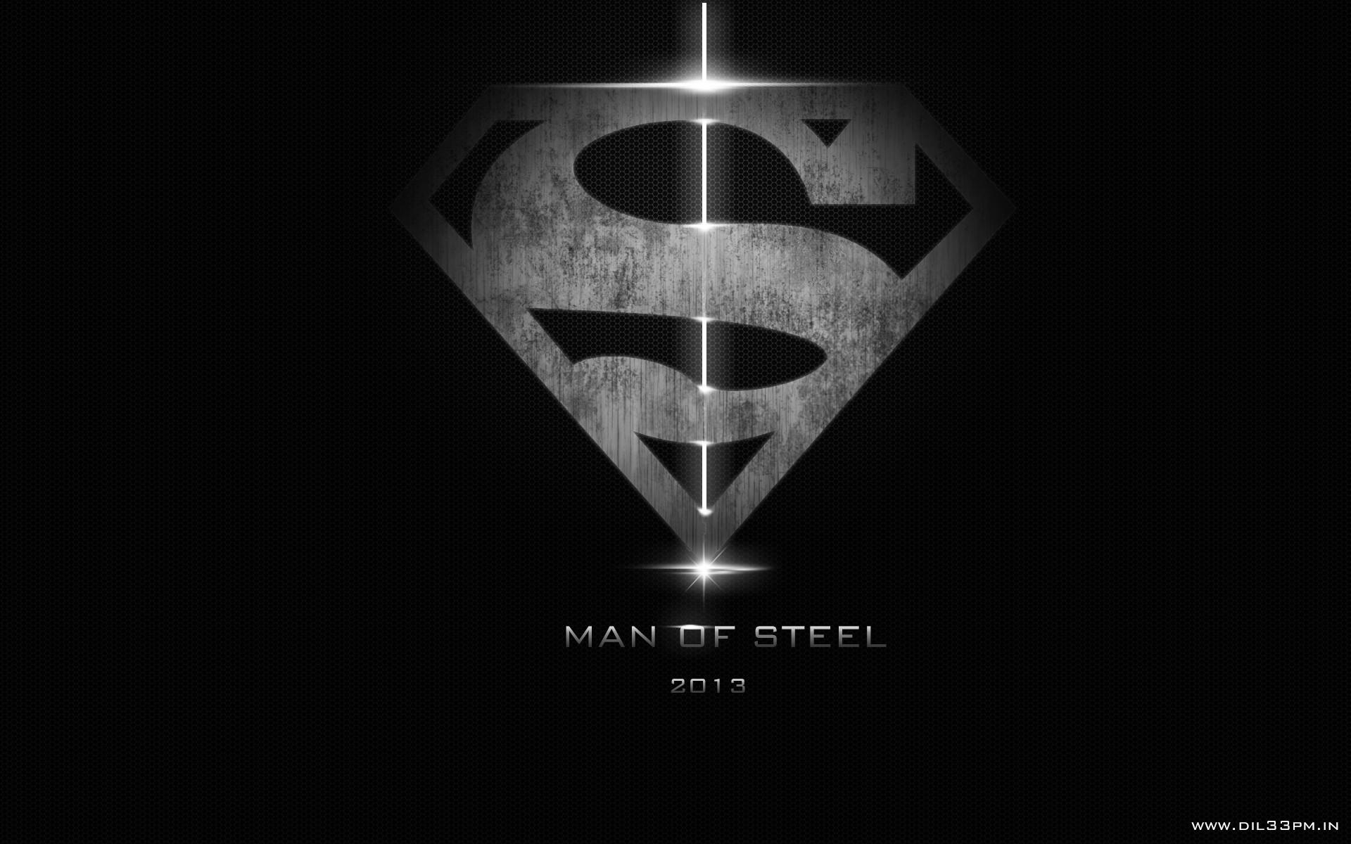 Superman Man Of Steel Dark Logo Hd Wallpaper