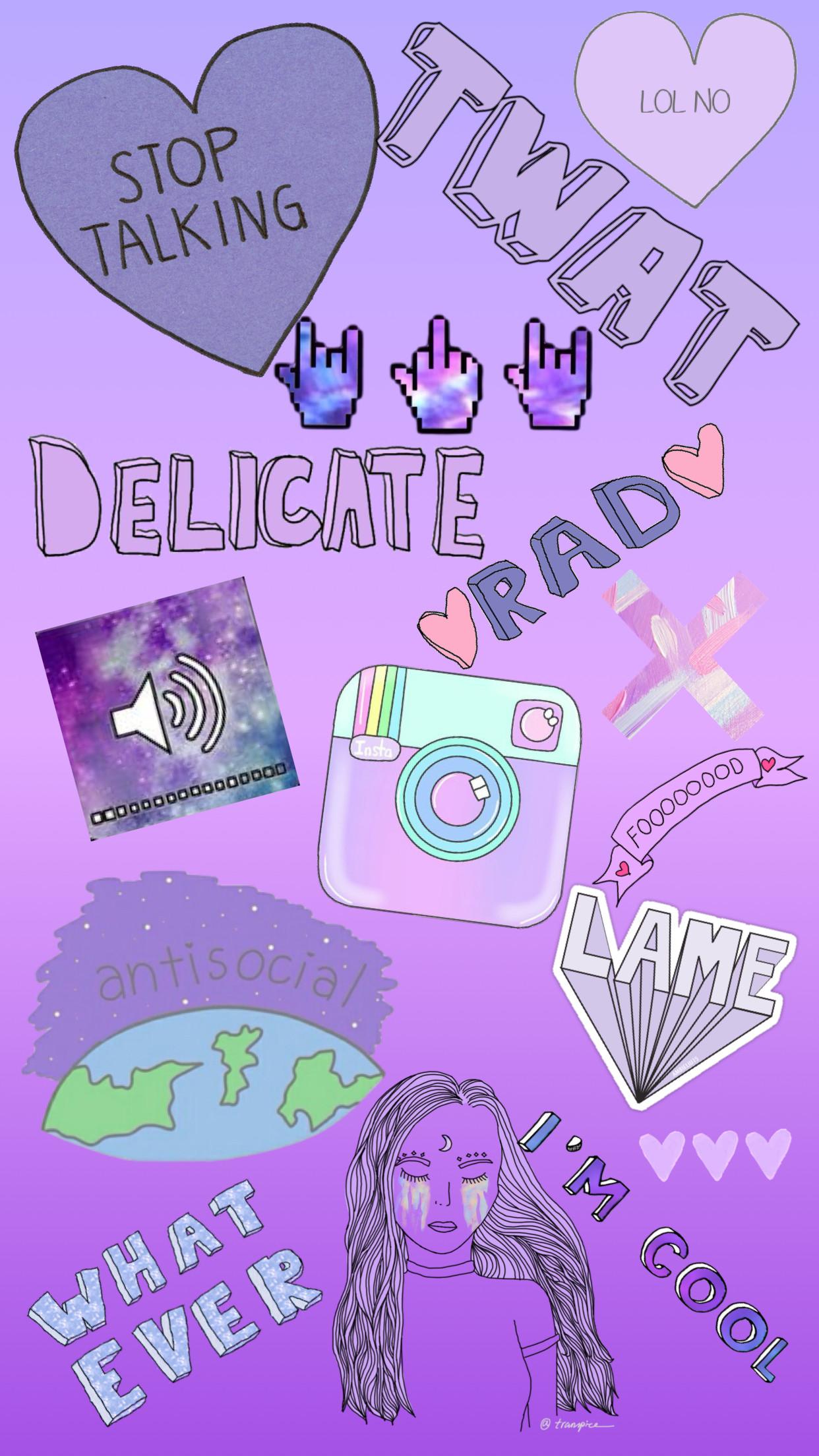 Purple Wallpaper By:mehhh #cute #wallpaper #iphone #purple #galaxy #