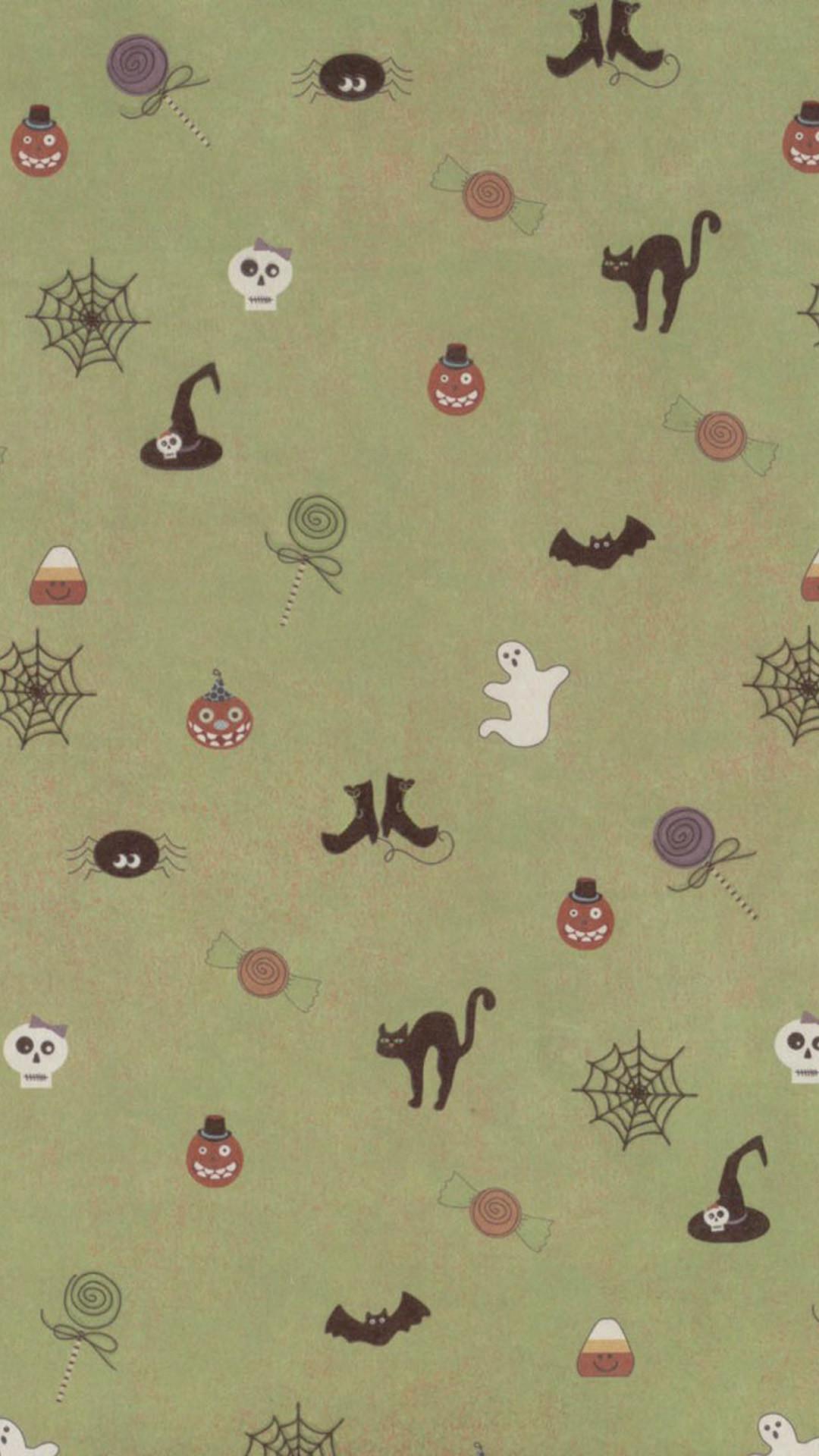 Cute Halloween Pattern Galaxy S5 Wallpapers