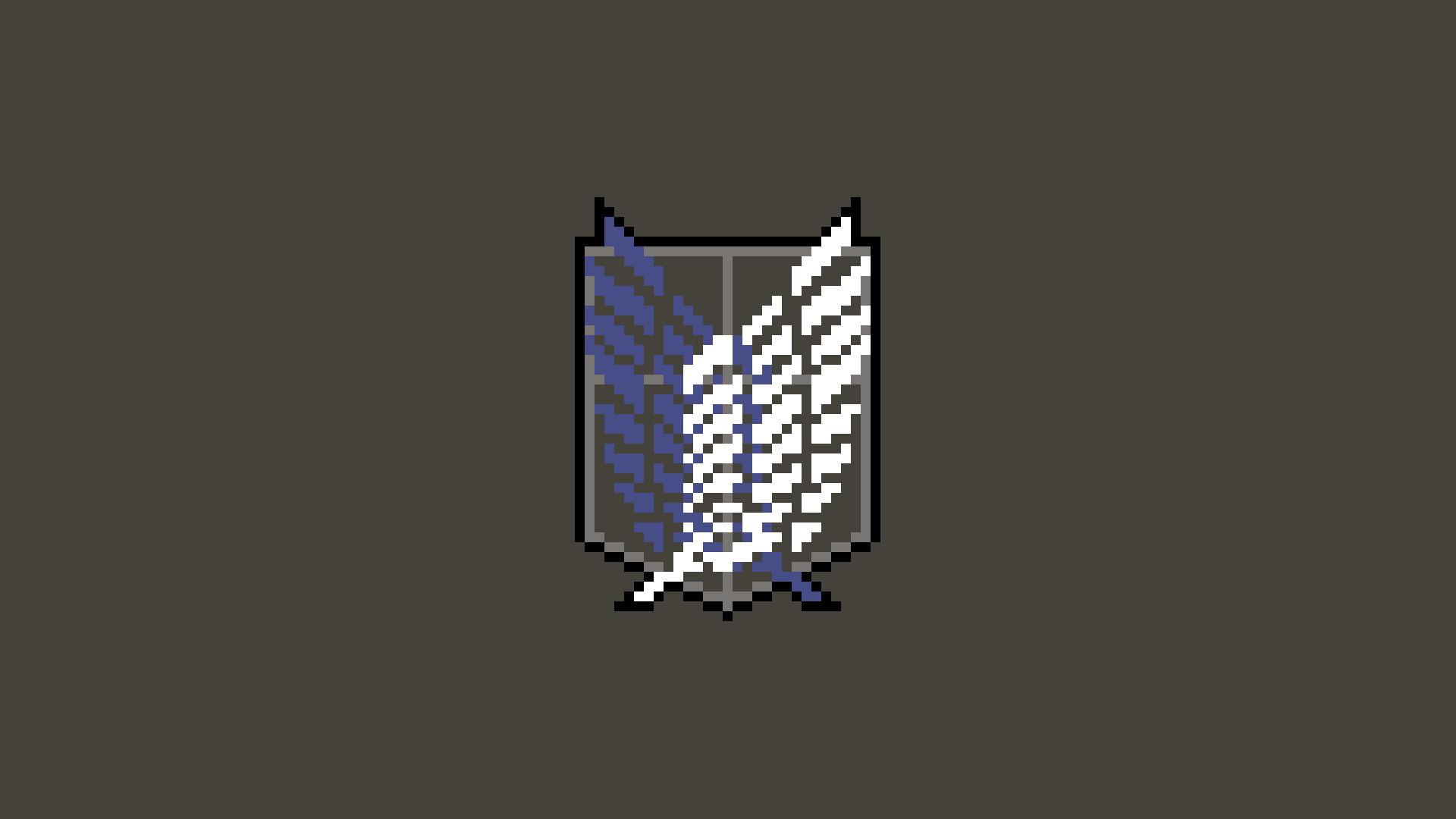 pixel art, Pixels, Shingeki no Kyojin, Scouting legion Wallpapers HD /  Desktop and Mobile Backgrounds