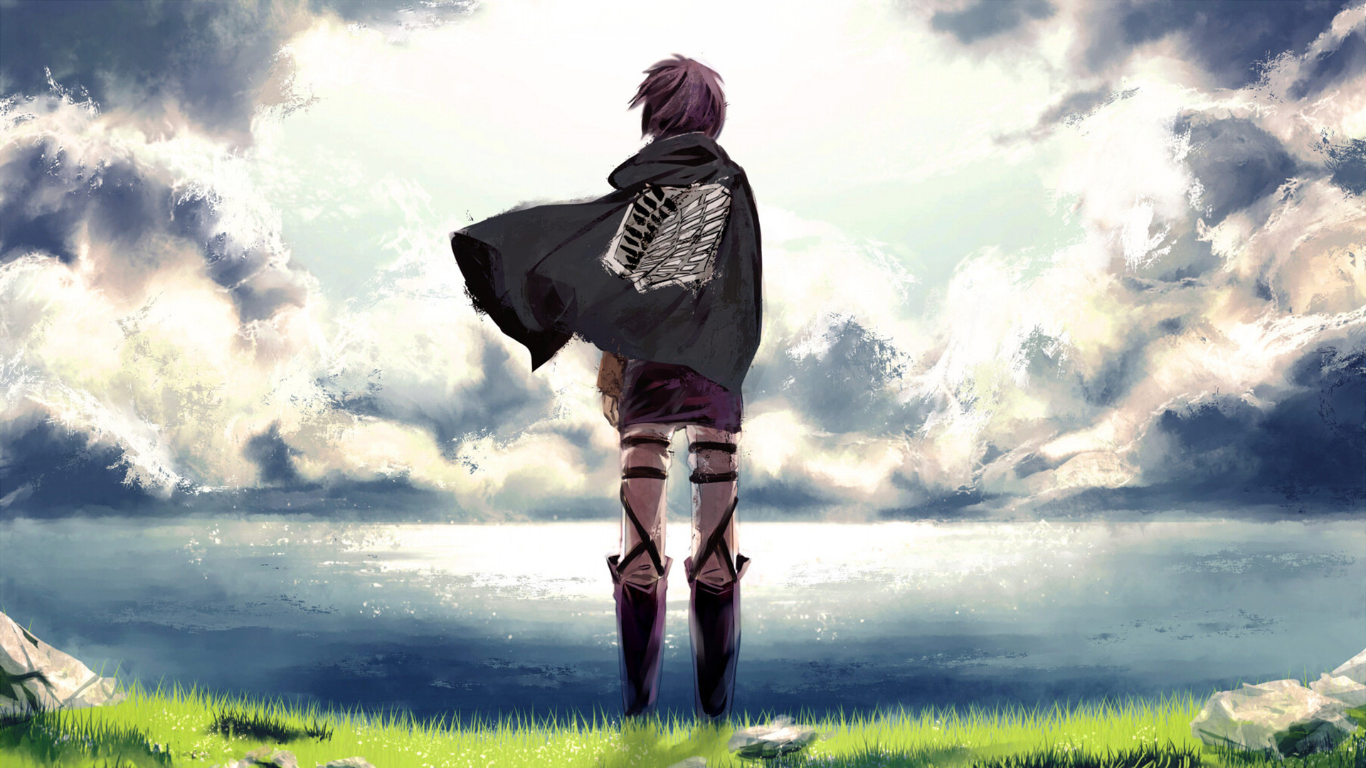 Anime – Attack On Titan Scouting Legion Shingeki No Kyojin Wallpaper