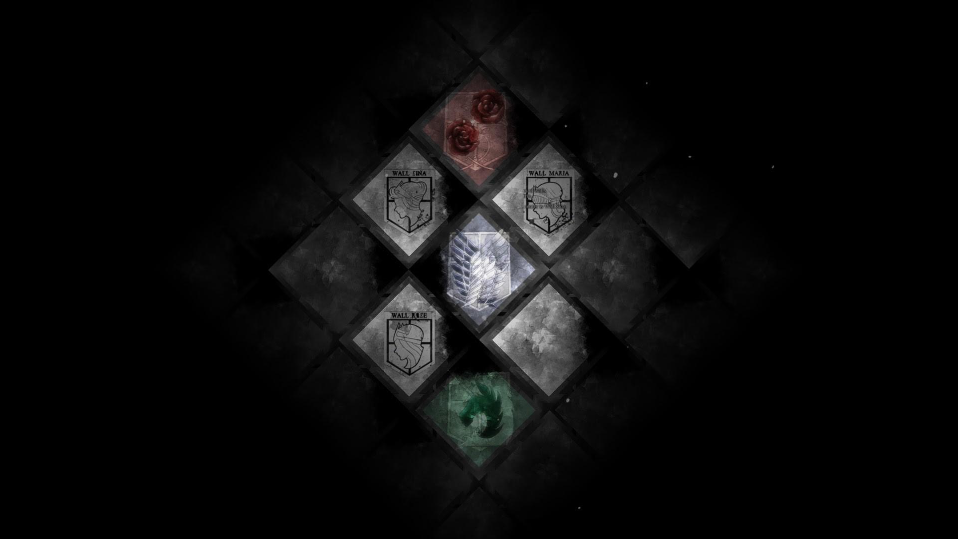 attack on titan emblem flags Attack On Titan Wallpaper Hd Scouting Legion