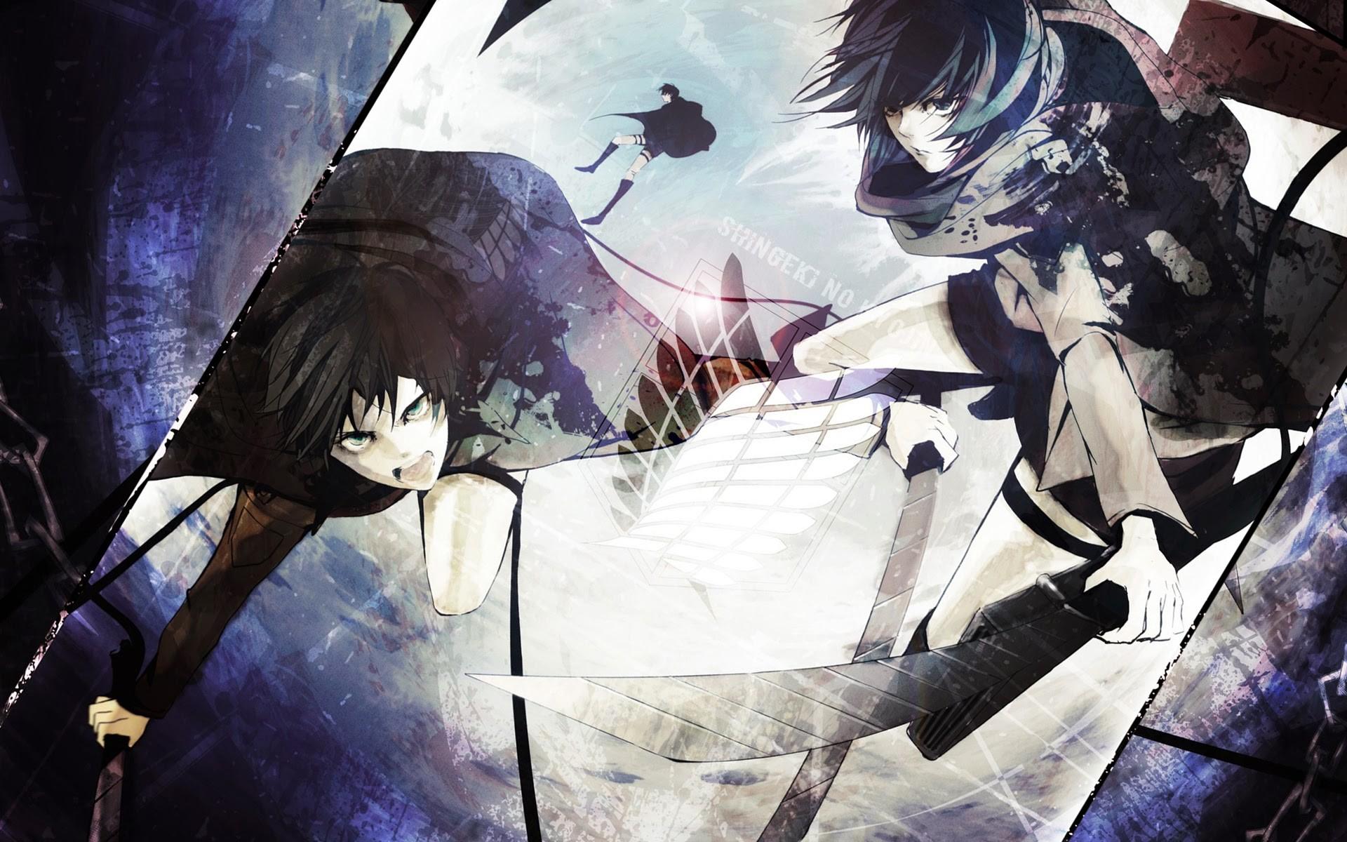eren jaeger and mikasa ackerman anime attack on titan shingeki no kyojin  90