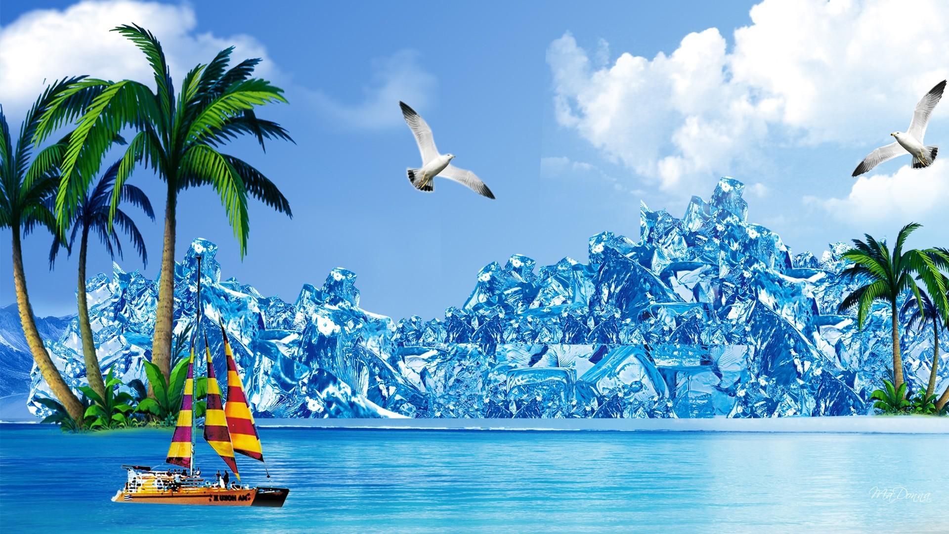 Cool Summer Desktop Wallpaper HD Free.