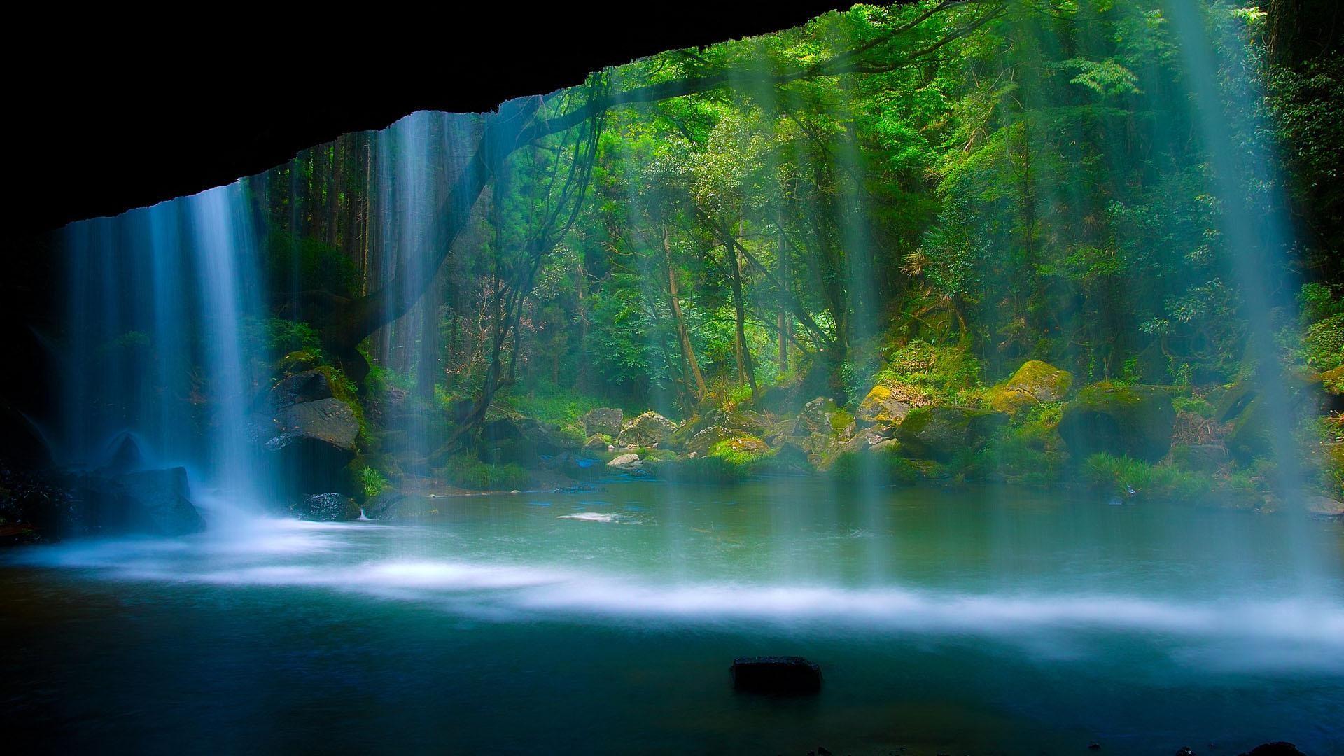Background Desktop Computer Sun Widescreen Waterfall Nice Picture .