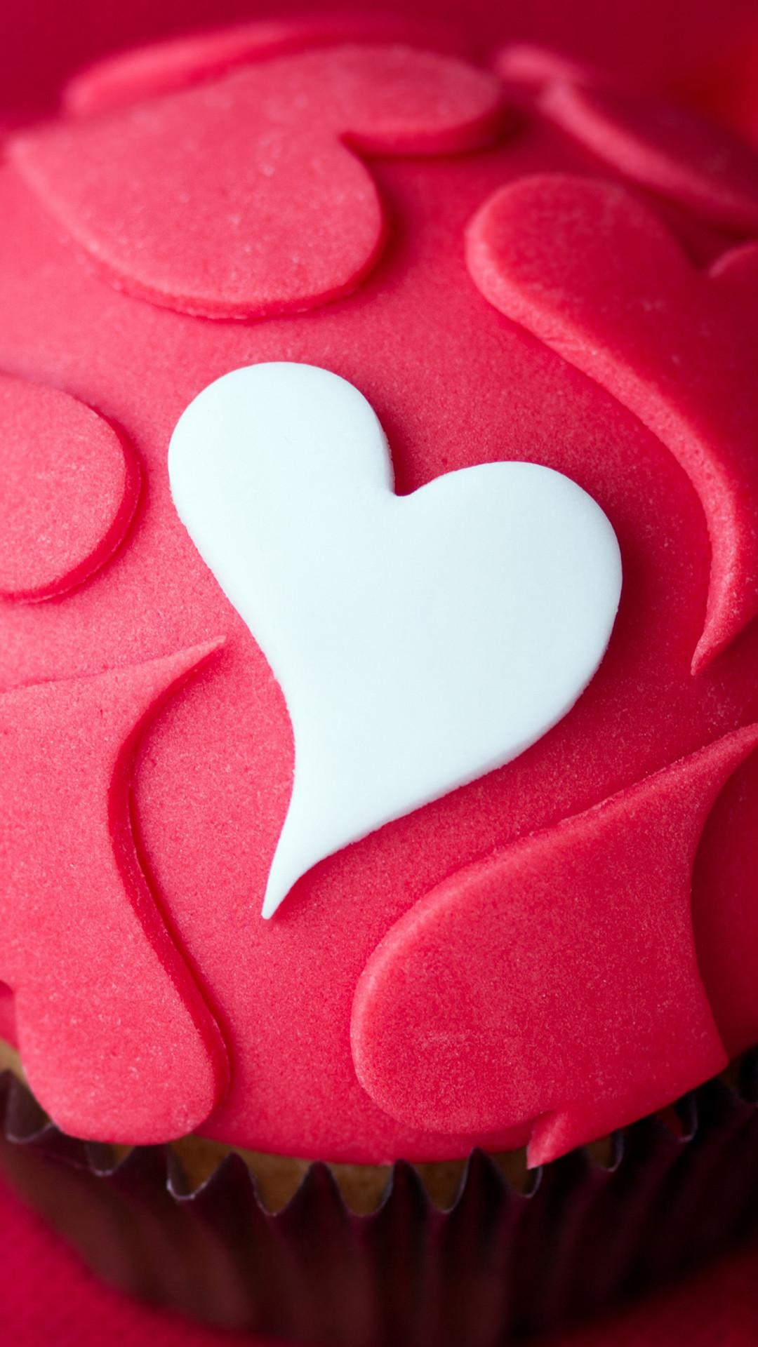 Heart Love Shaped Desert Cake #iPhone #6 #plus #wallpaper