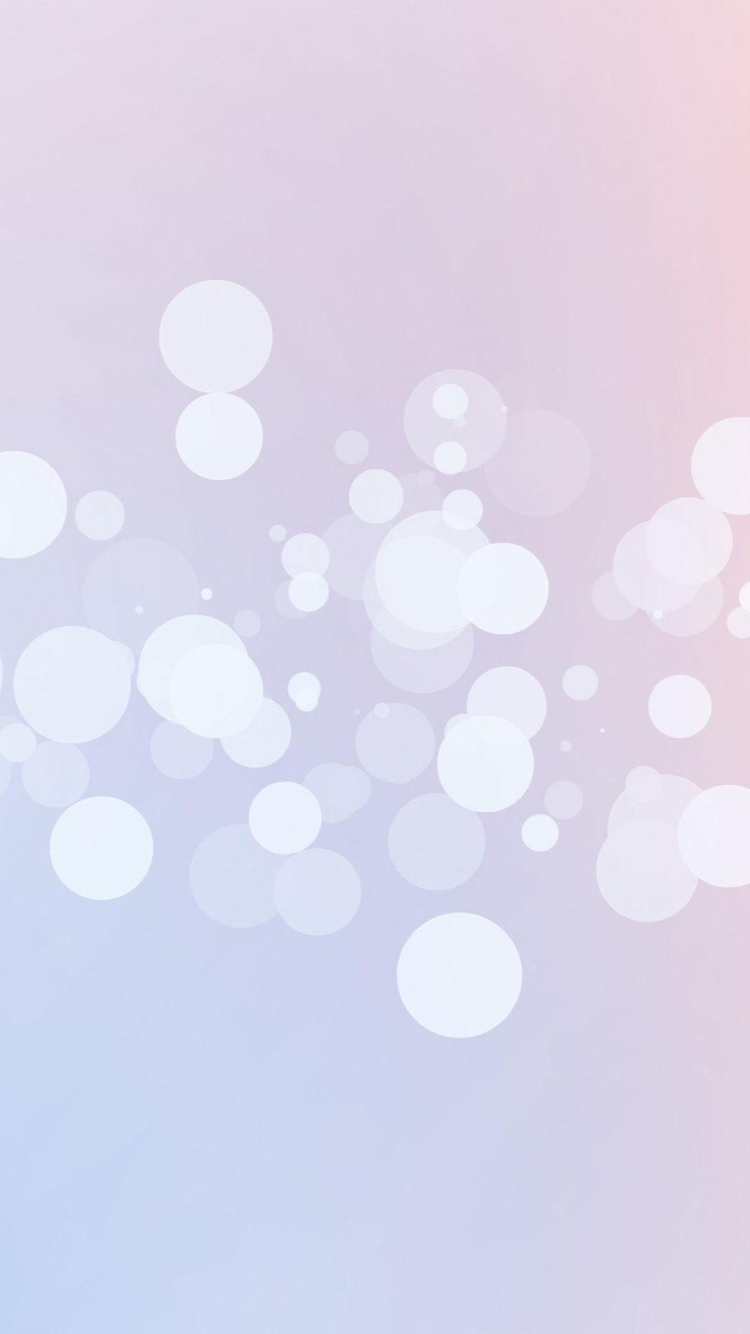 Simple Pink Bokeh Circles iPhone 6 Plus HD Wallpaper …