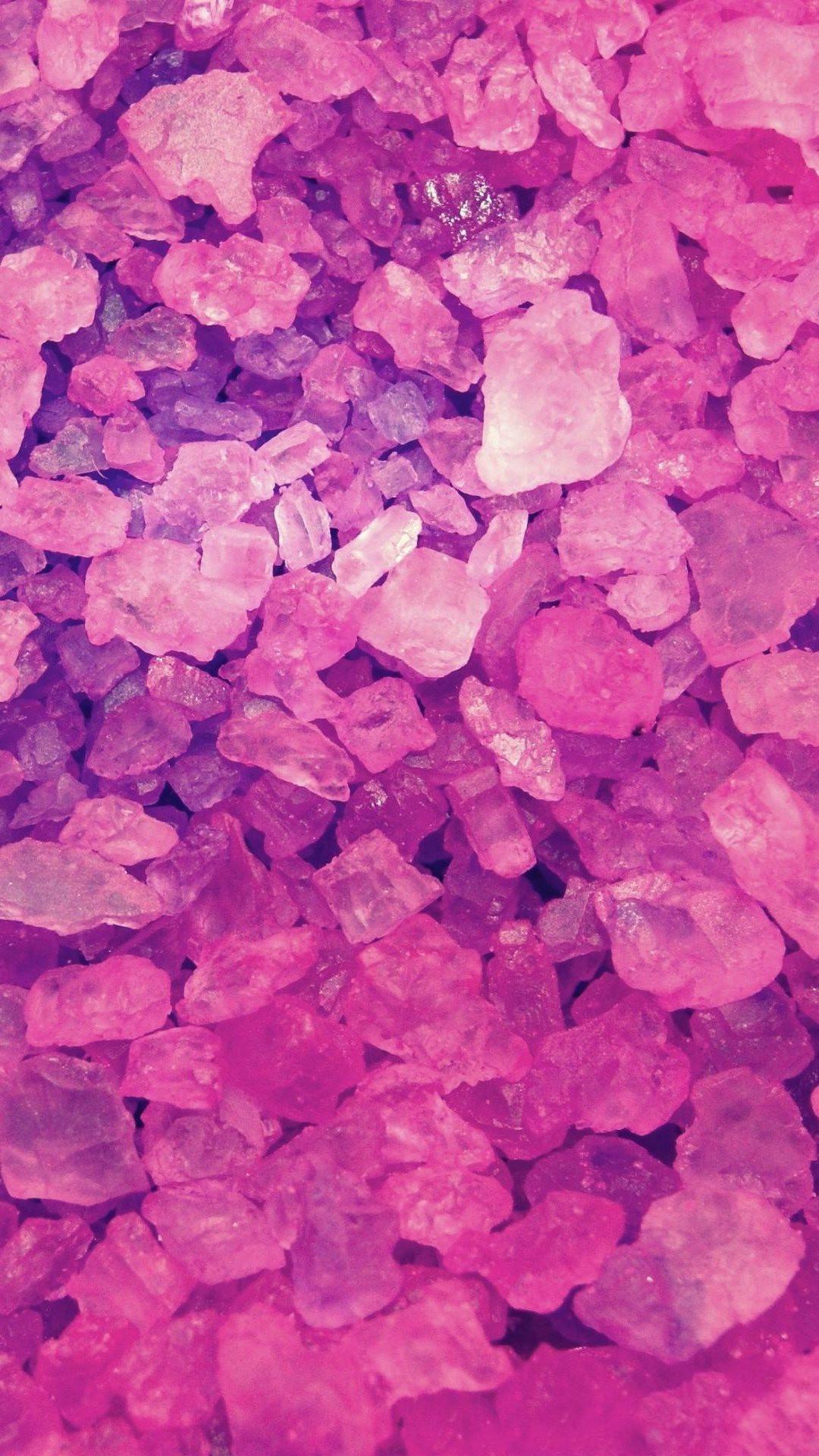 Pink Crystals Lockscreen iPhone 6 Plus HD Wallpaper