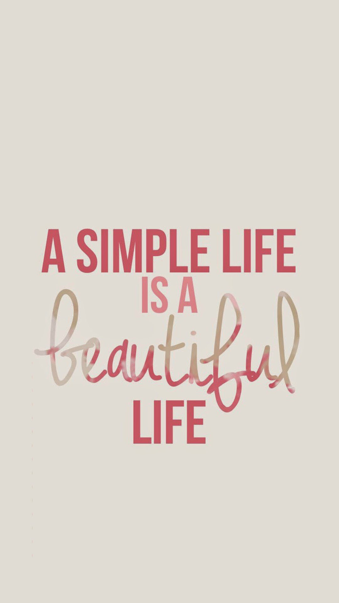Simple Life – Tap to see more Inspirational Life Quote iPhone Wallpapers…