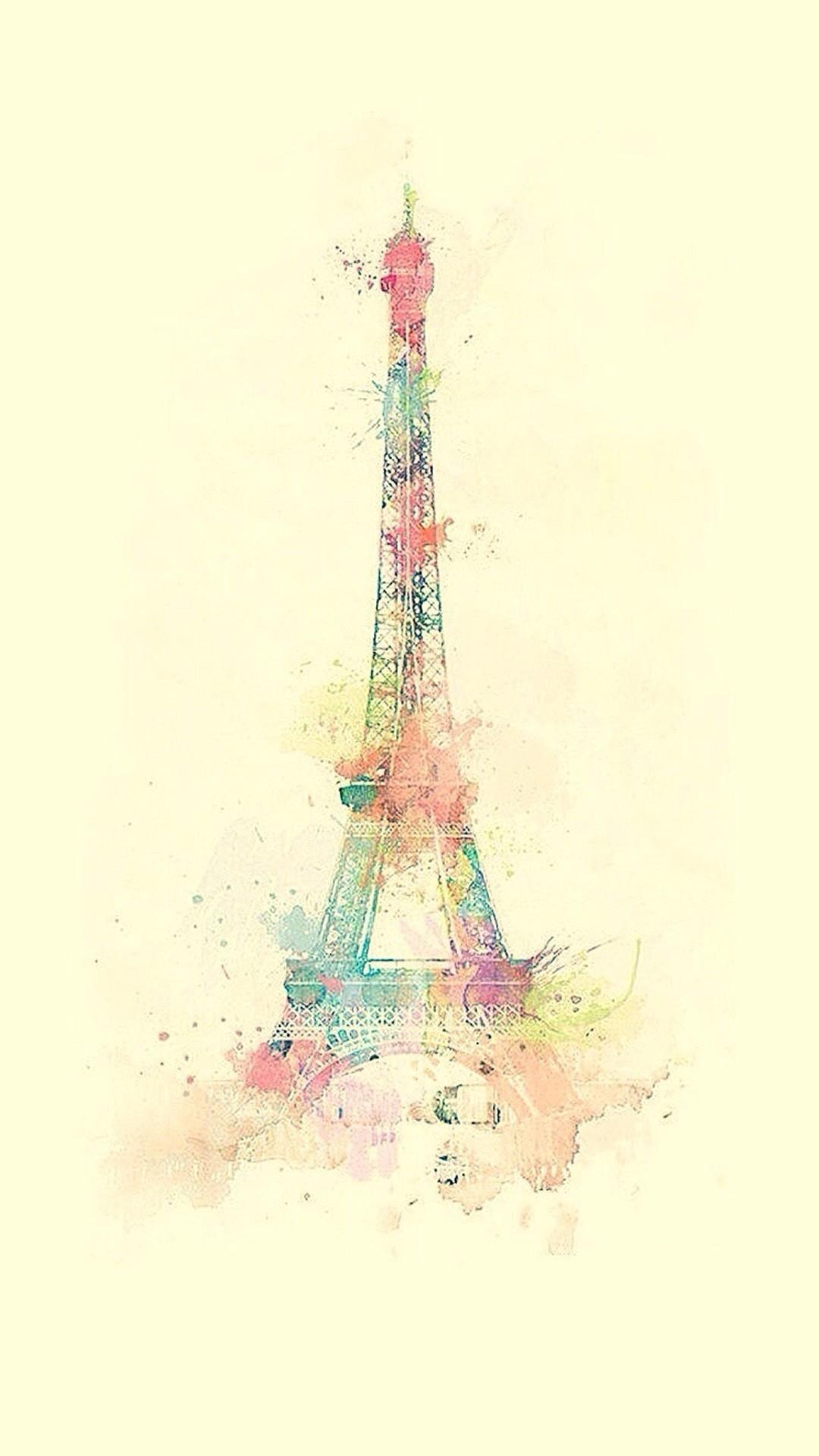 eiffel-tower-watercolor-paint-iphone-wallpaper-ilikewallpaper-com-