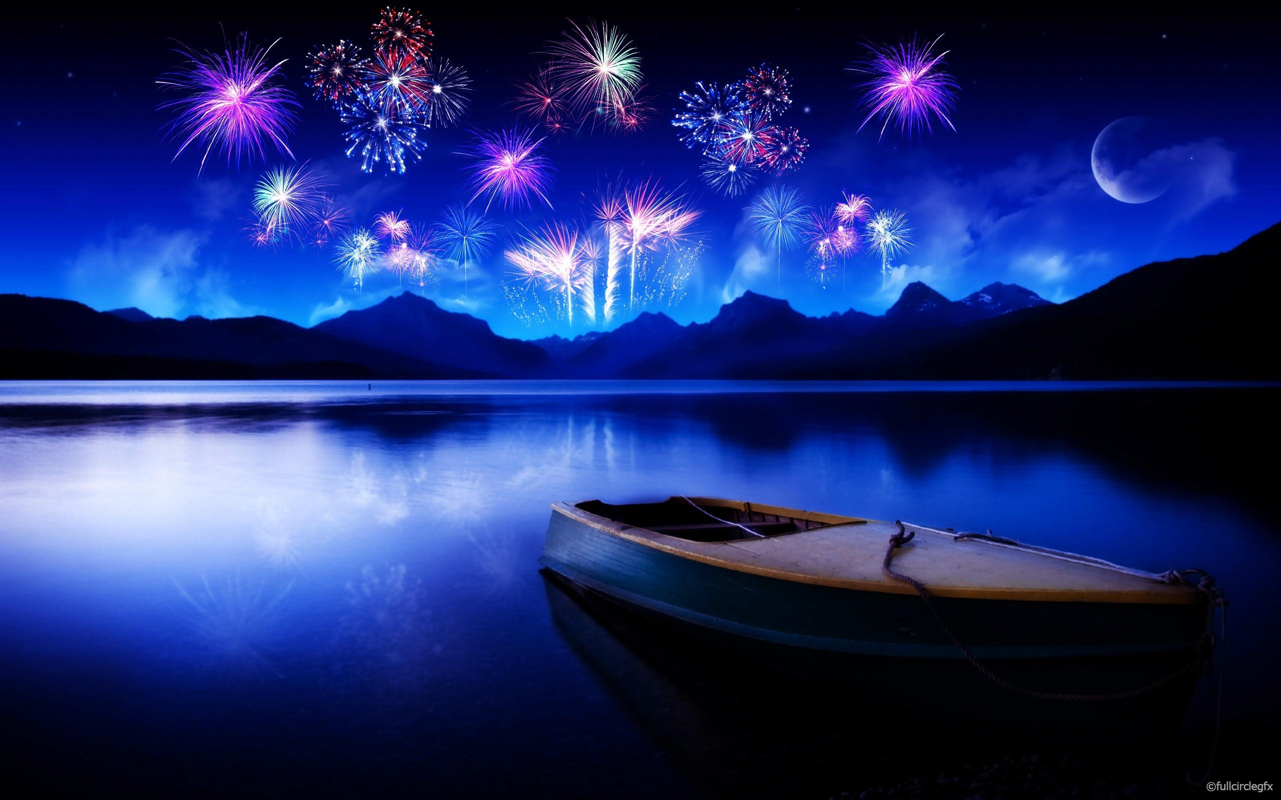 Best computer wallpapers 2012 – bestscreenwallpaper.com – fireworks to lake