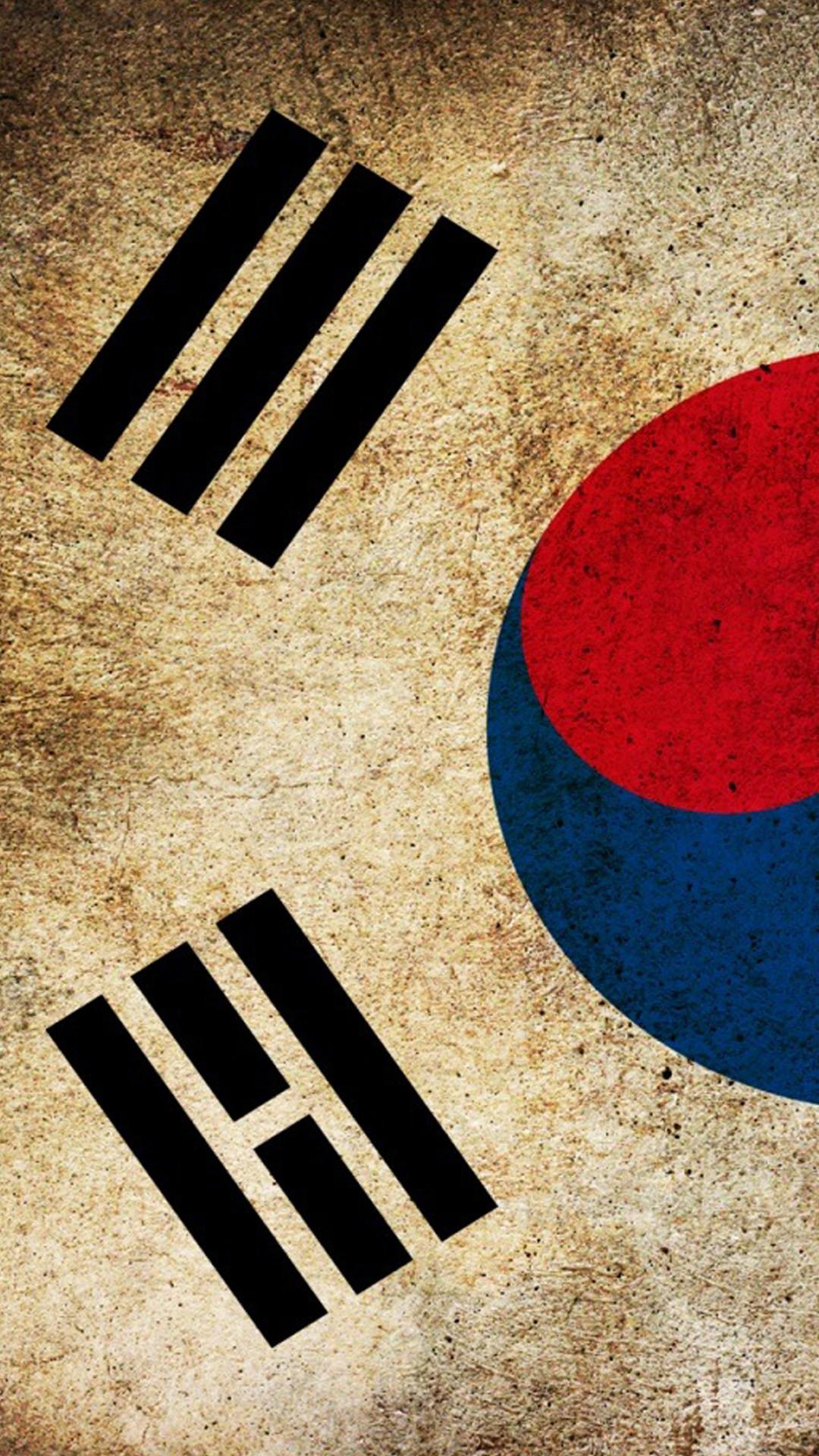 Flag south korea Htc One M8 wallpaper