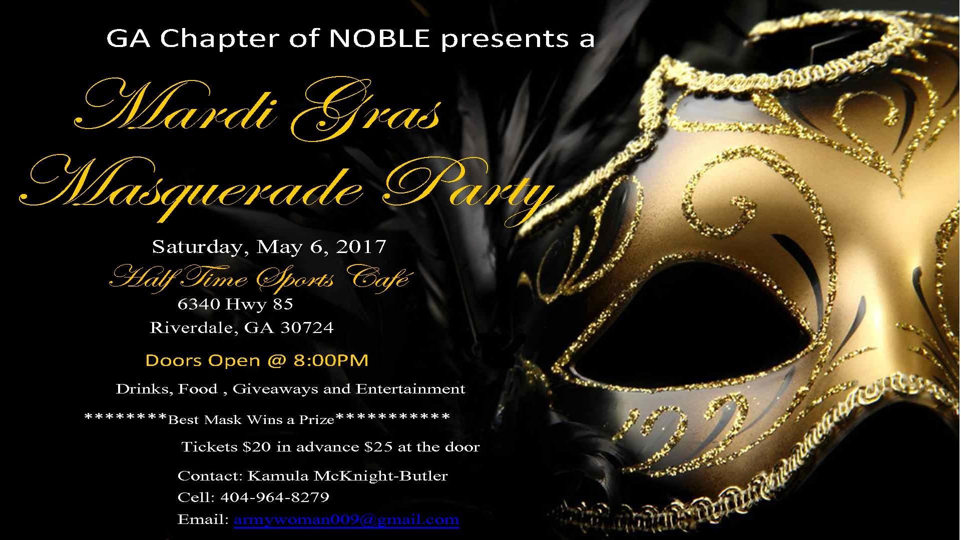 NOBLE Mardi Gras Masquerade Party