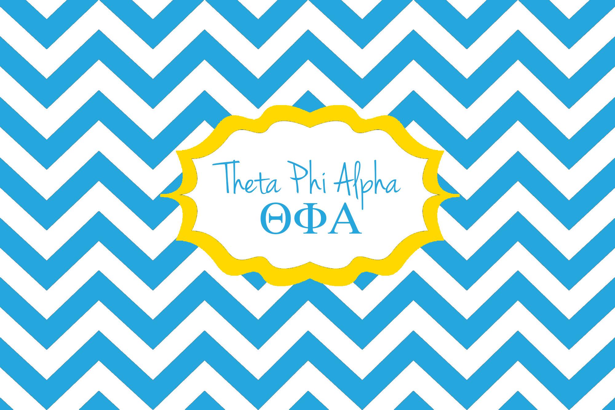 Theta Phi Alpha Background.