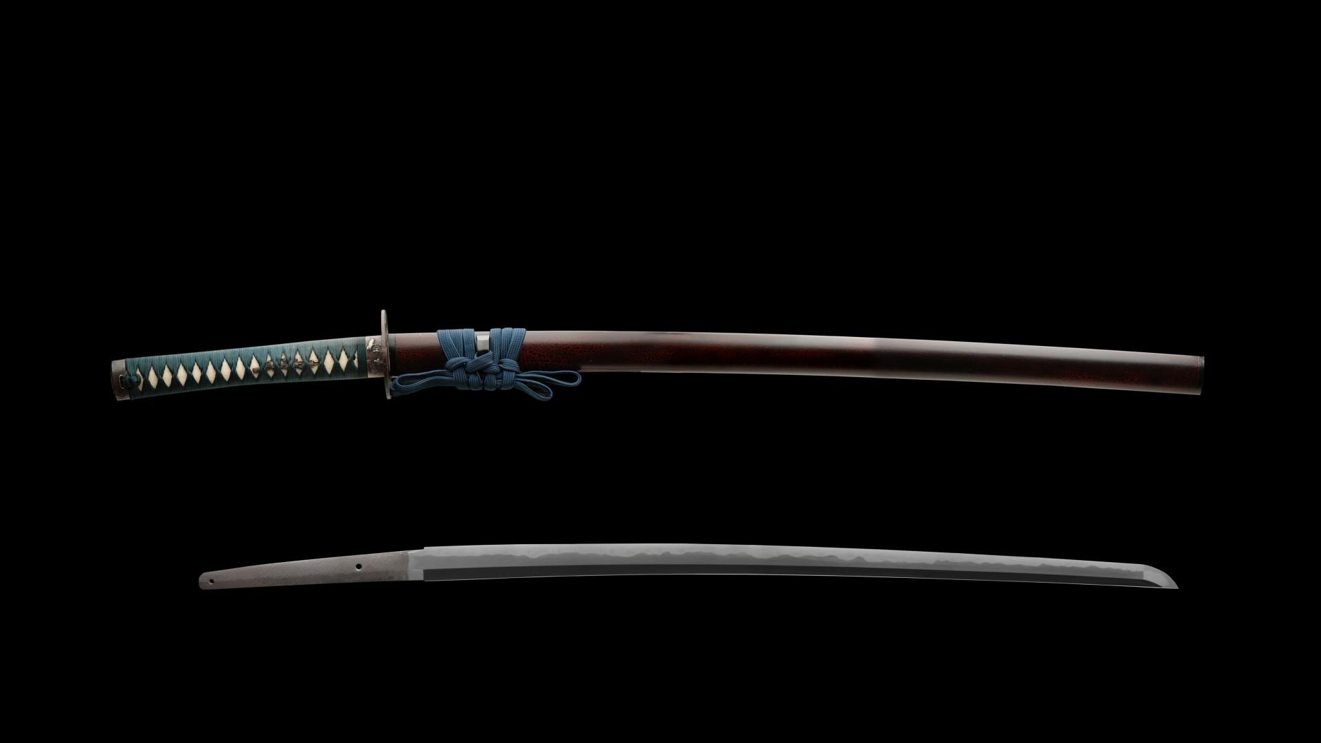 Preview wallpaper katana, sword, samurai, japan 1920×1080