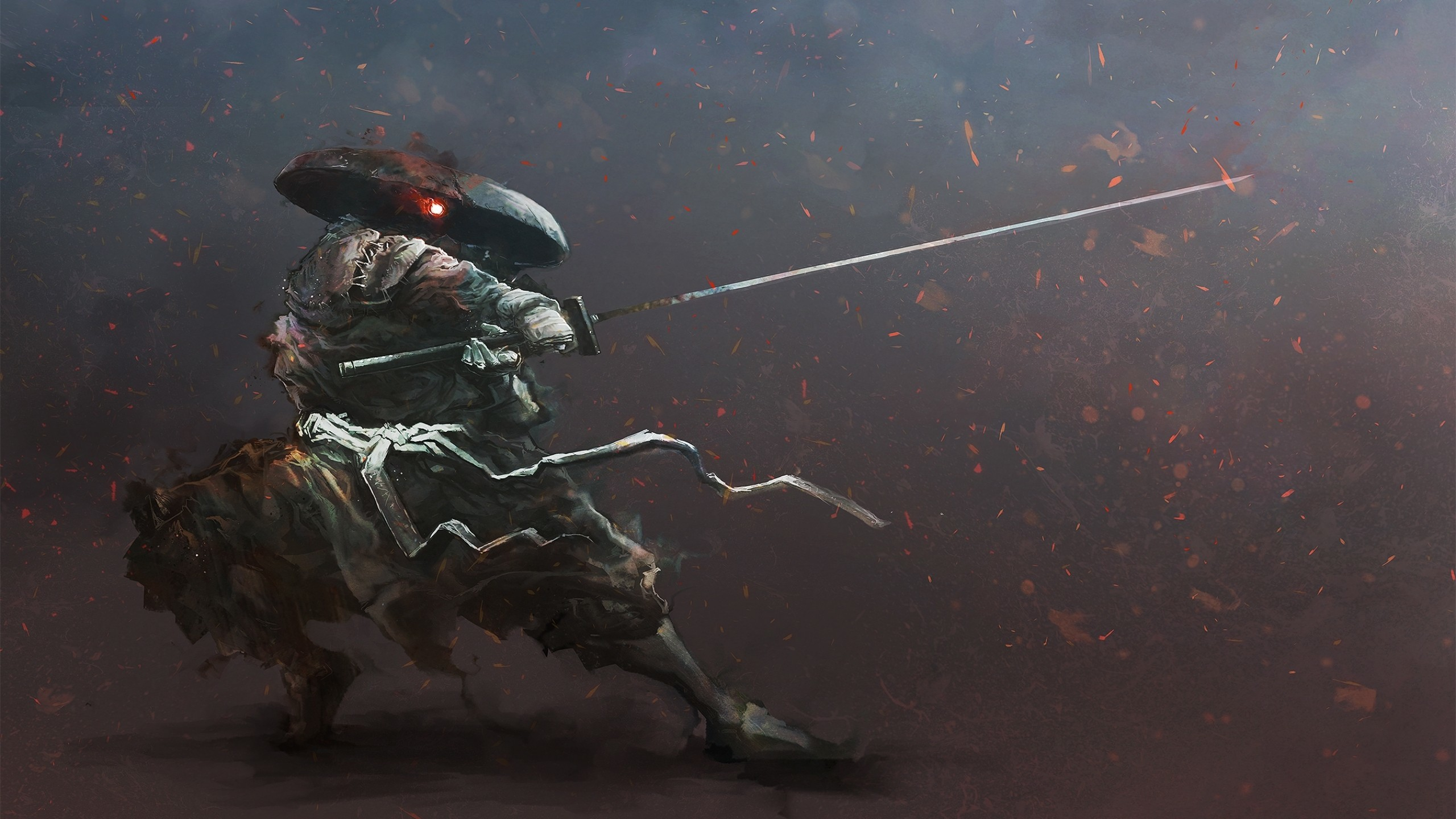 artwork, Digital Art, Samurai, Warrior, Katana Wallpapers HD / Desktop and  Mobile Backgrounds