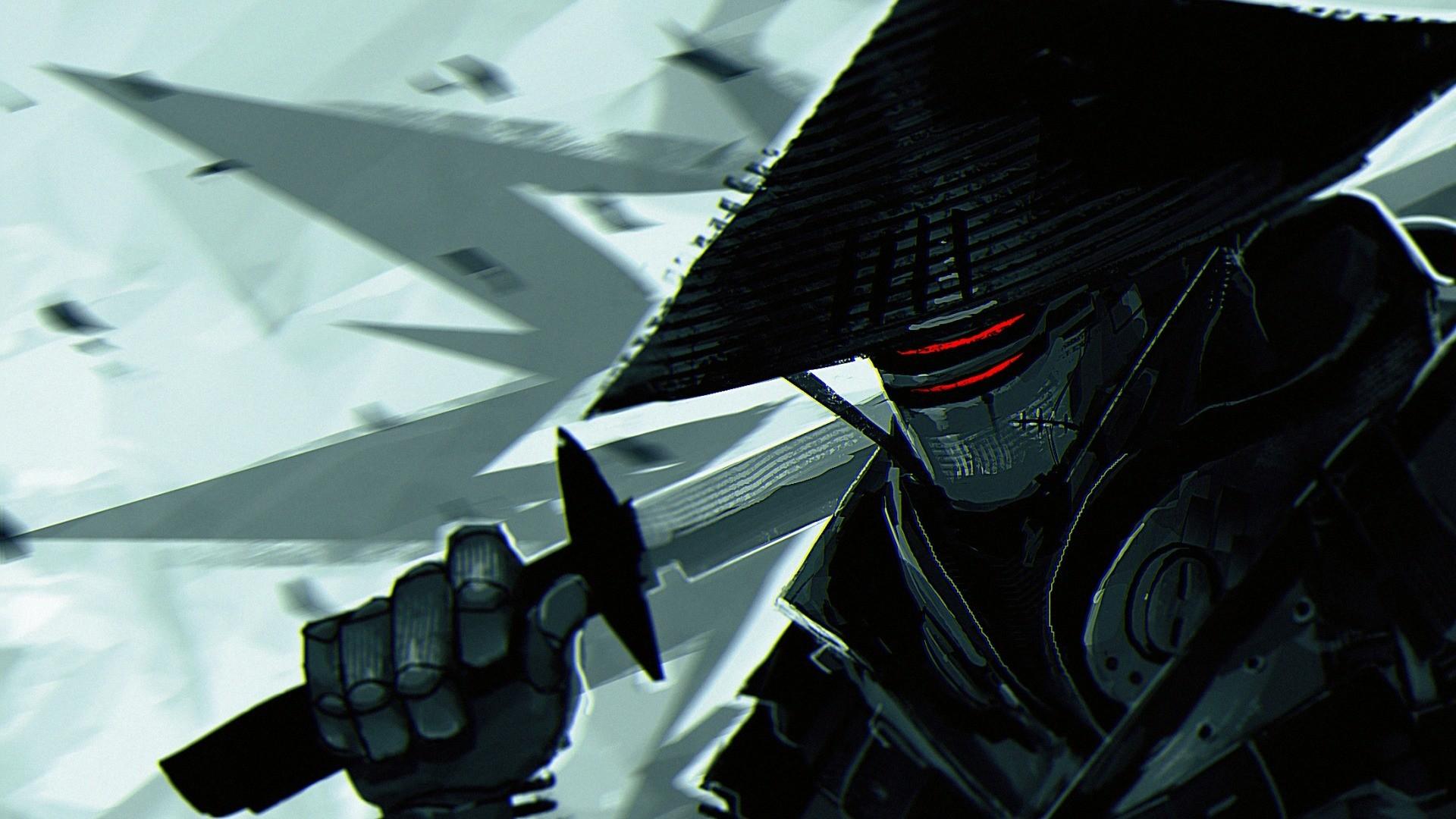 artwork, Digital Art, Robot, Samurai, Katana, Kikuchiyo, Samurai 7 Wallpapers  HD / Desktop and Mobile Backgrounds