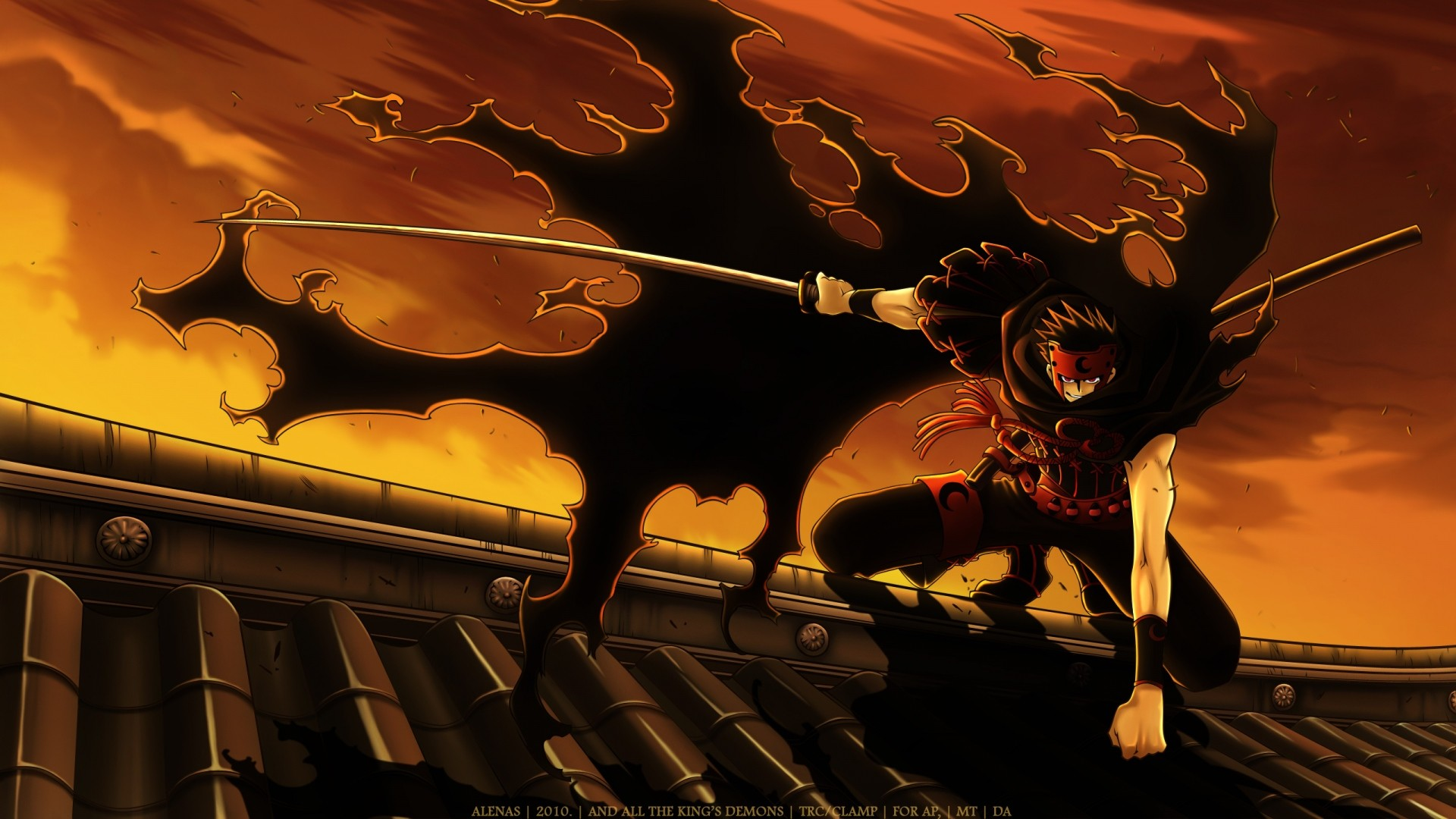 Wallpaper tsubasa reservoir chronicle, kurogane, katana, anime