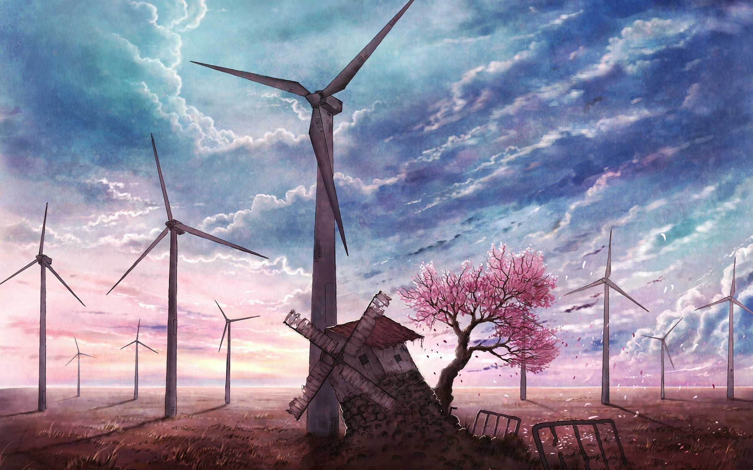 Replaced (Windmill, windmill for the land. Turn forever hand in hand.