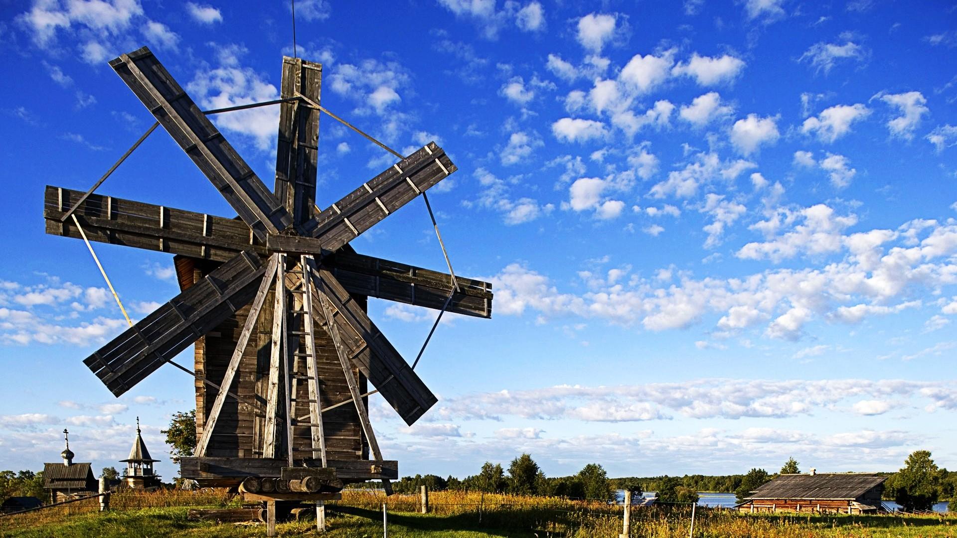 Windmill desktop PC and Mac wallpaper