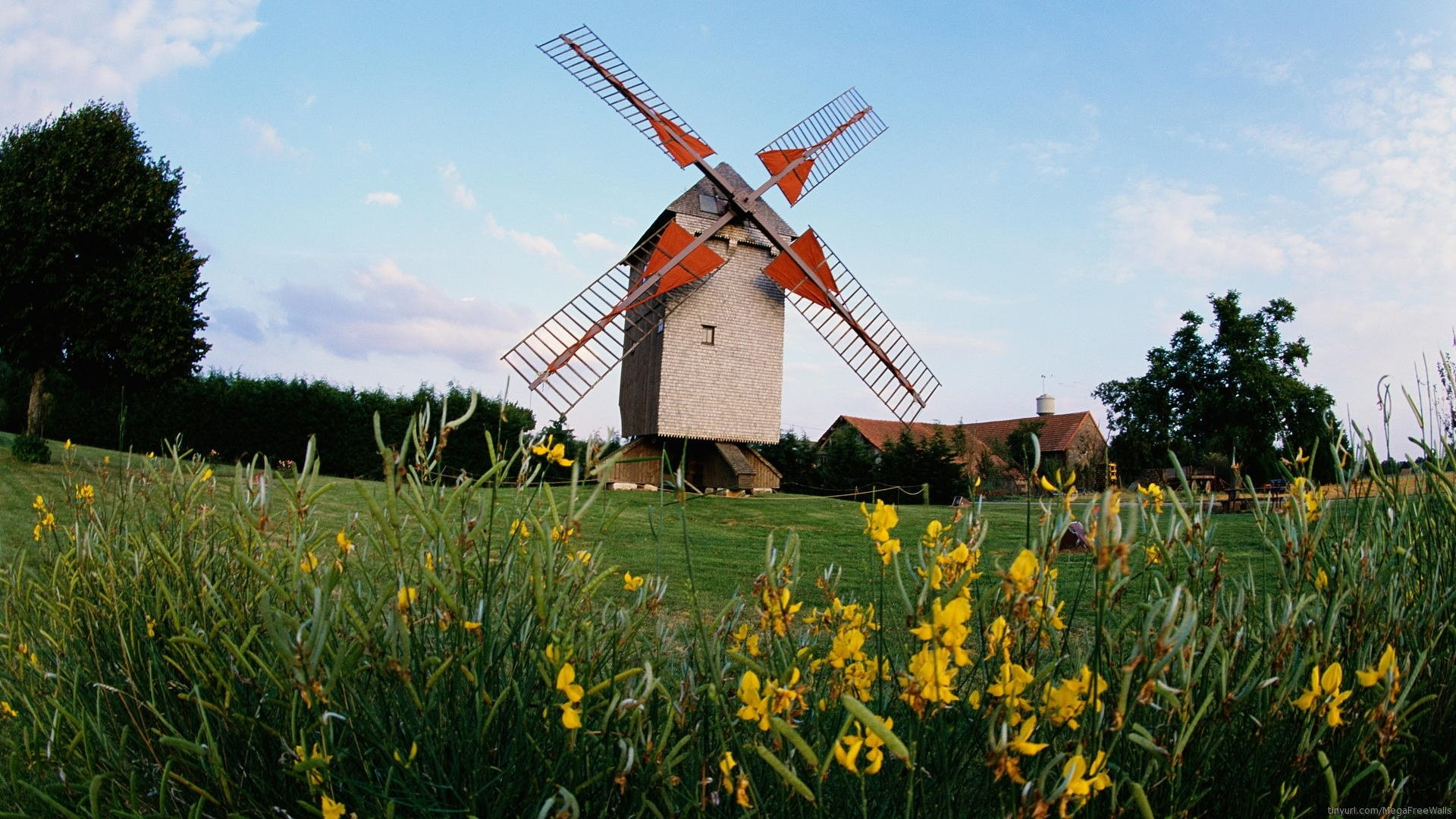 Man Made – Windmill Wallpaper