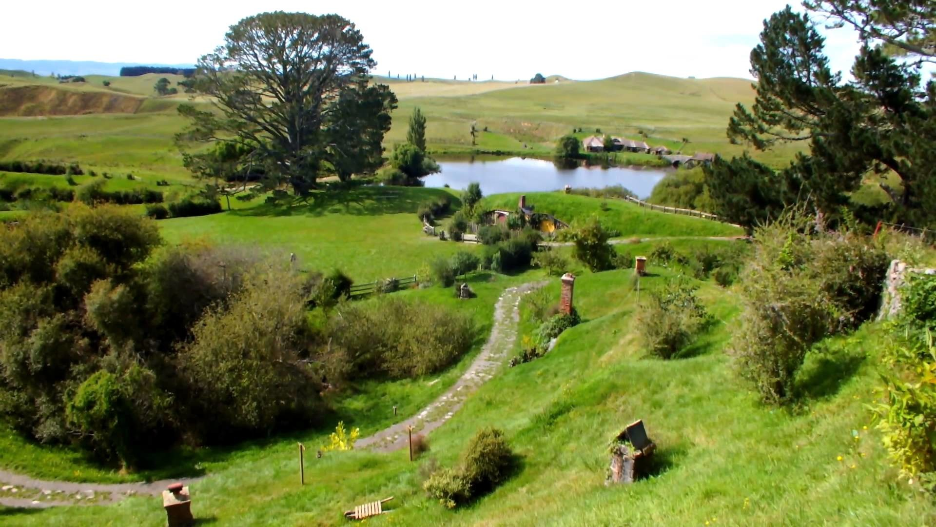 Hobbiton / Hobbingen im Auenland / The Shire in 2012: The Lord of the Rings  + The Hobbit
