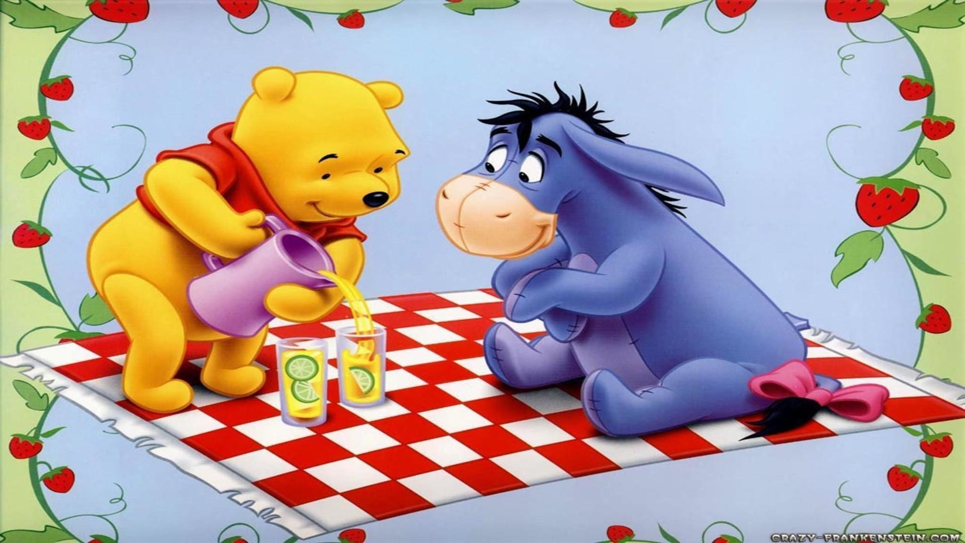 Winnie and eeyore picnic wallpaper cartoon frame free desktop .