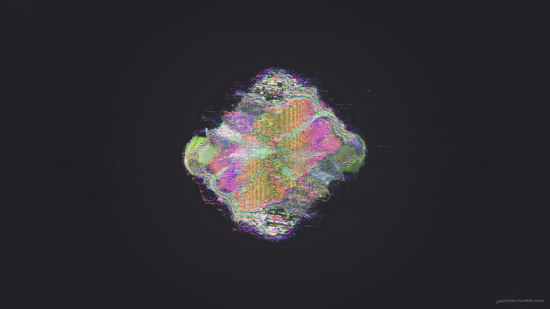 glitch art, Abstract, Black, LSD Wallpaper