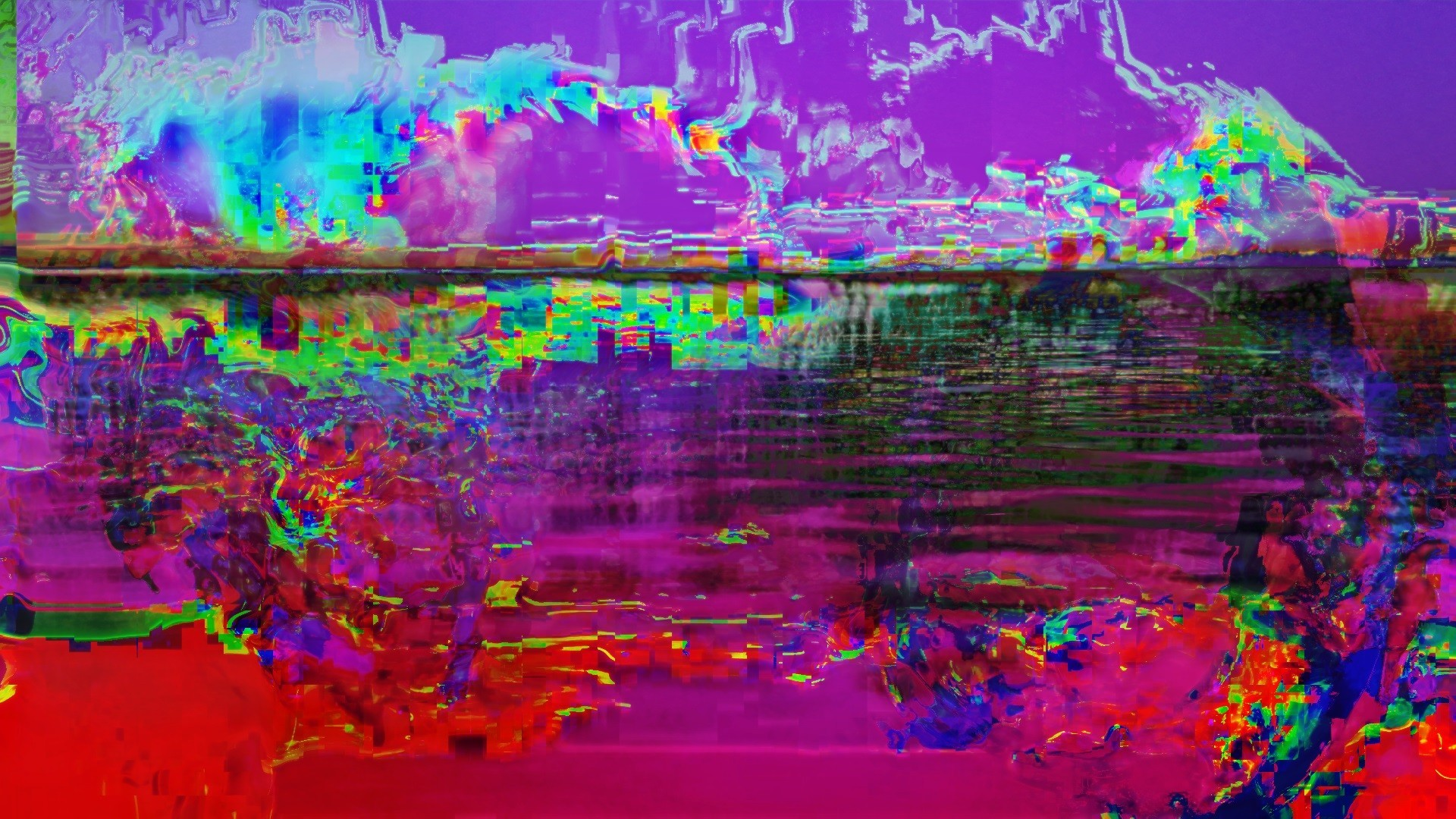 General glitch art LSD abstract
