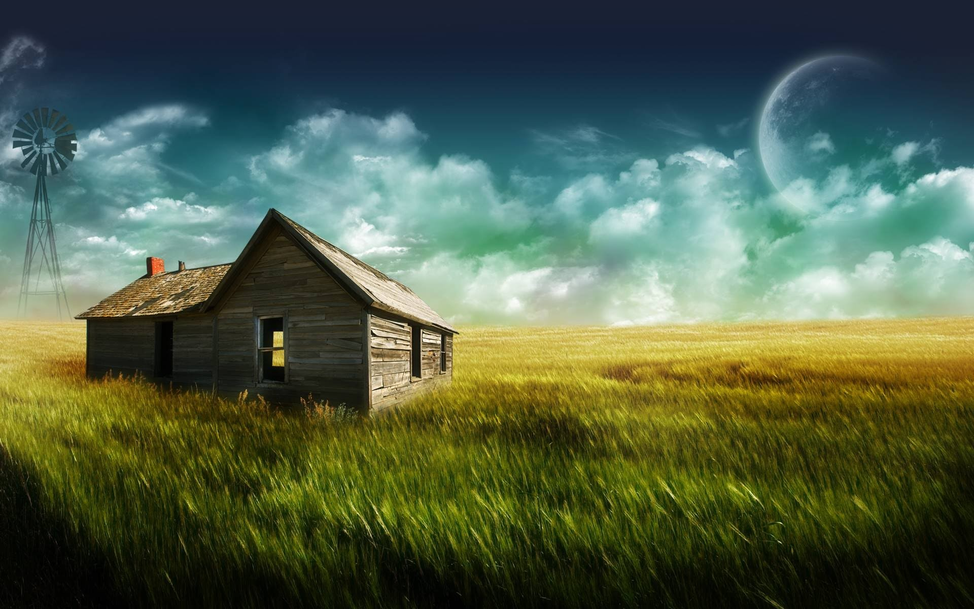 Download The Old Farm HD Wallpaper