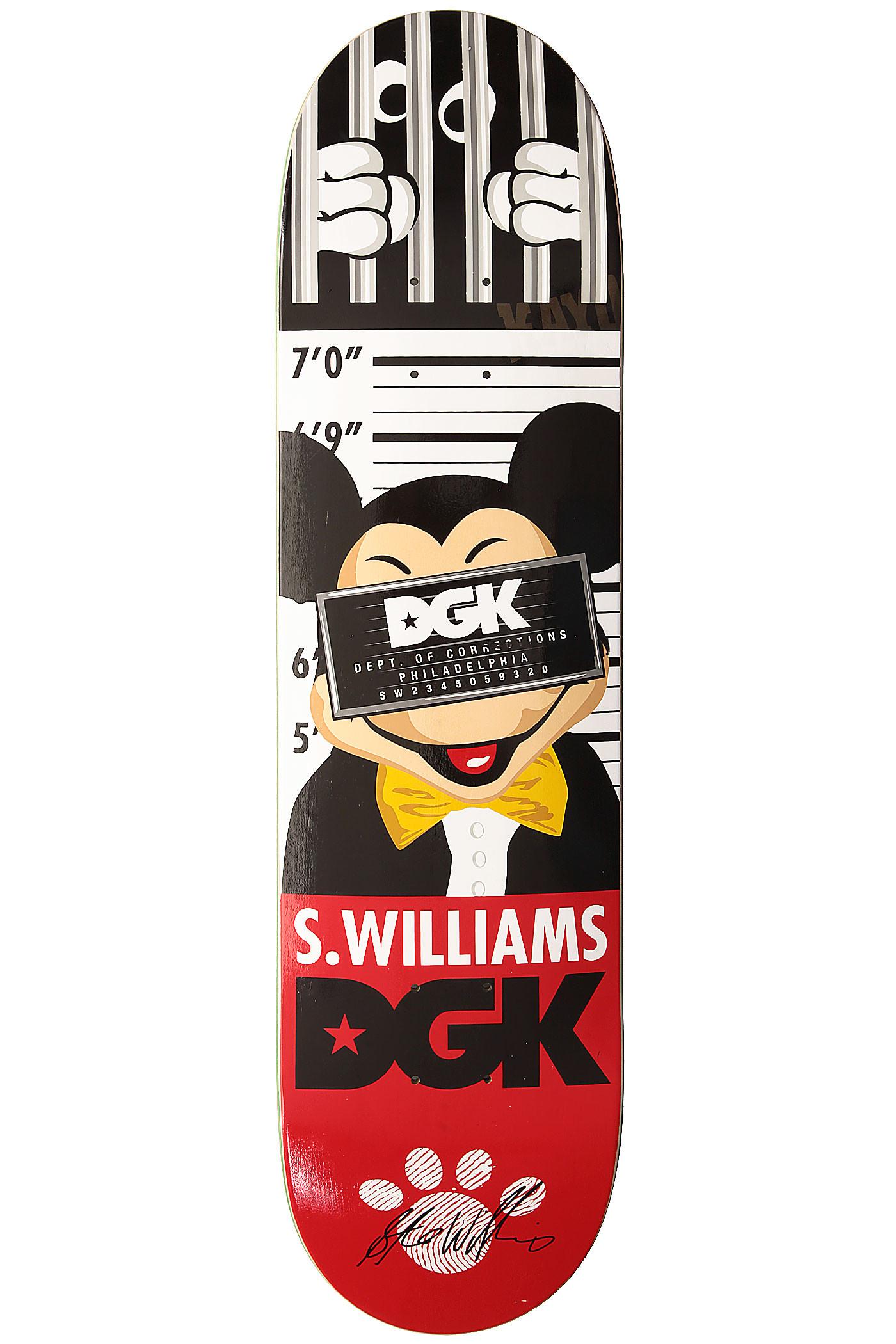 "DGK Skateboards Williams Processed 7.875"" Deck buy at skatedeluxe"