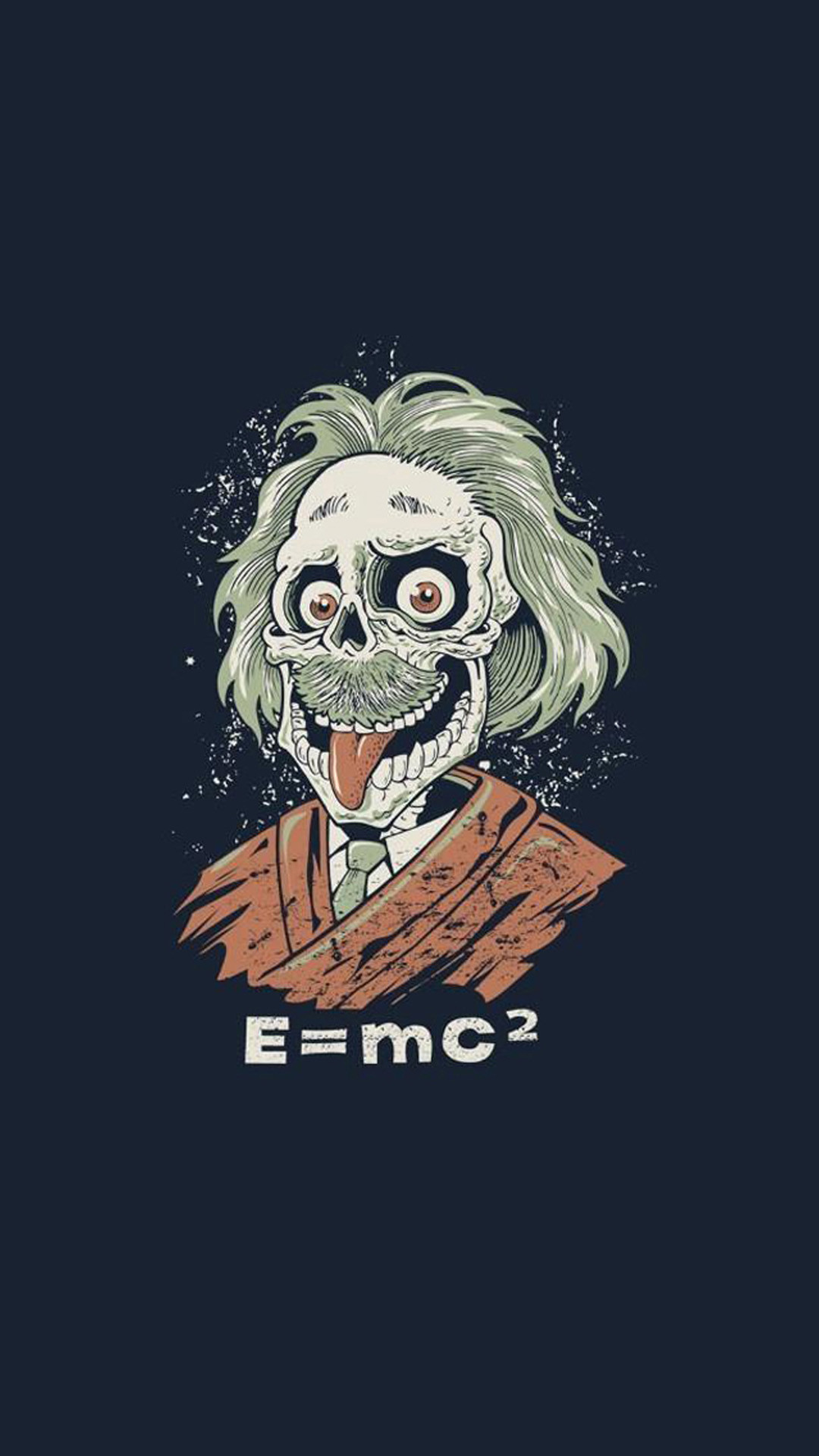 Funny Albert Einstein Caricature HD Wallpaper iPhone 6 plus
