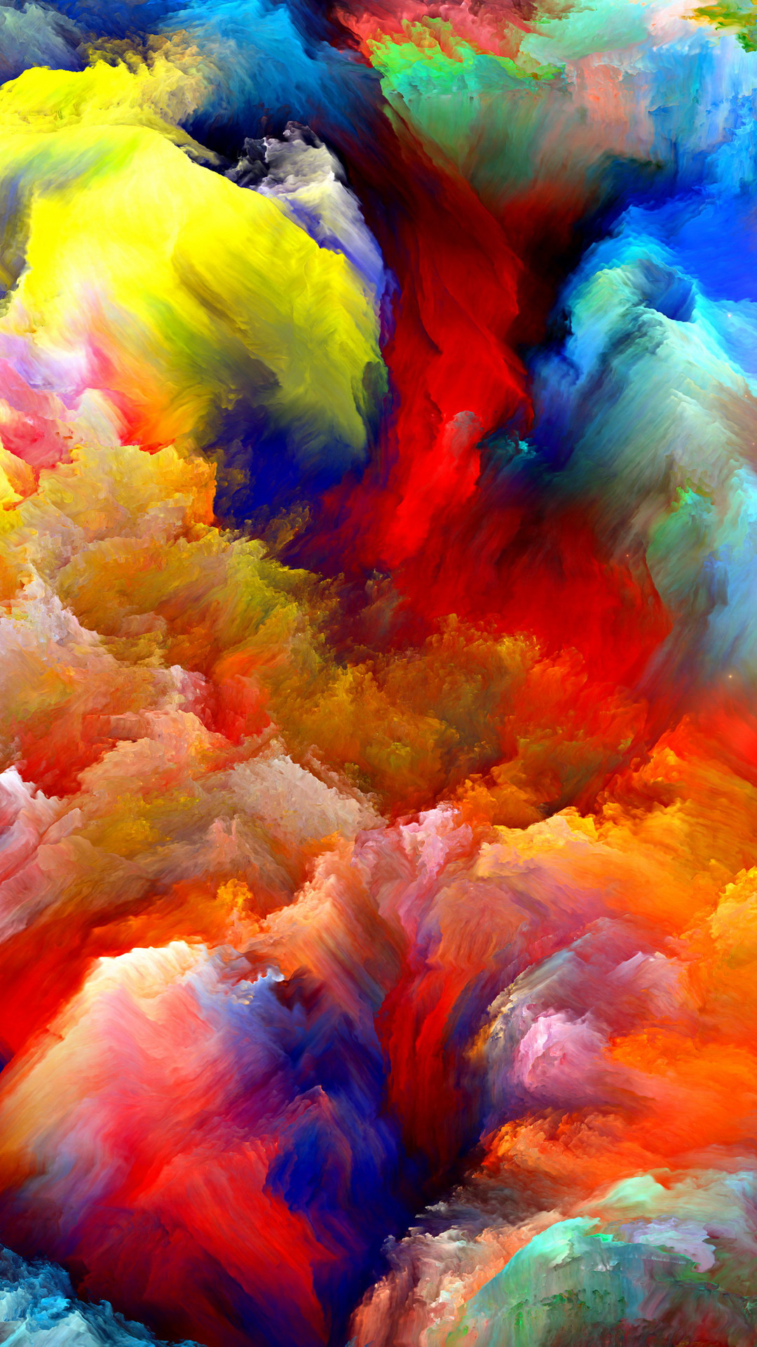 Oil Painting Colorful Strokes iPhone 6 Plus HD Wallpaper