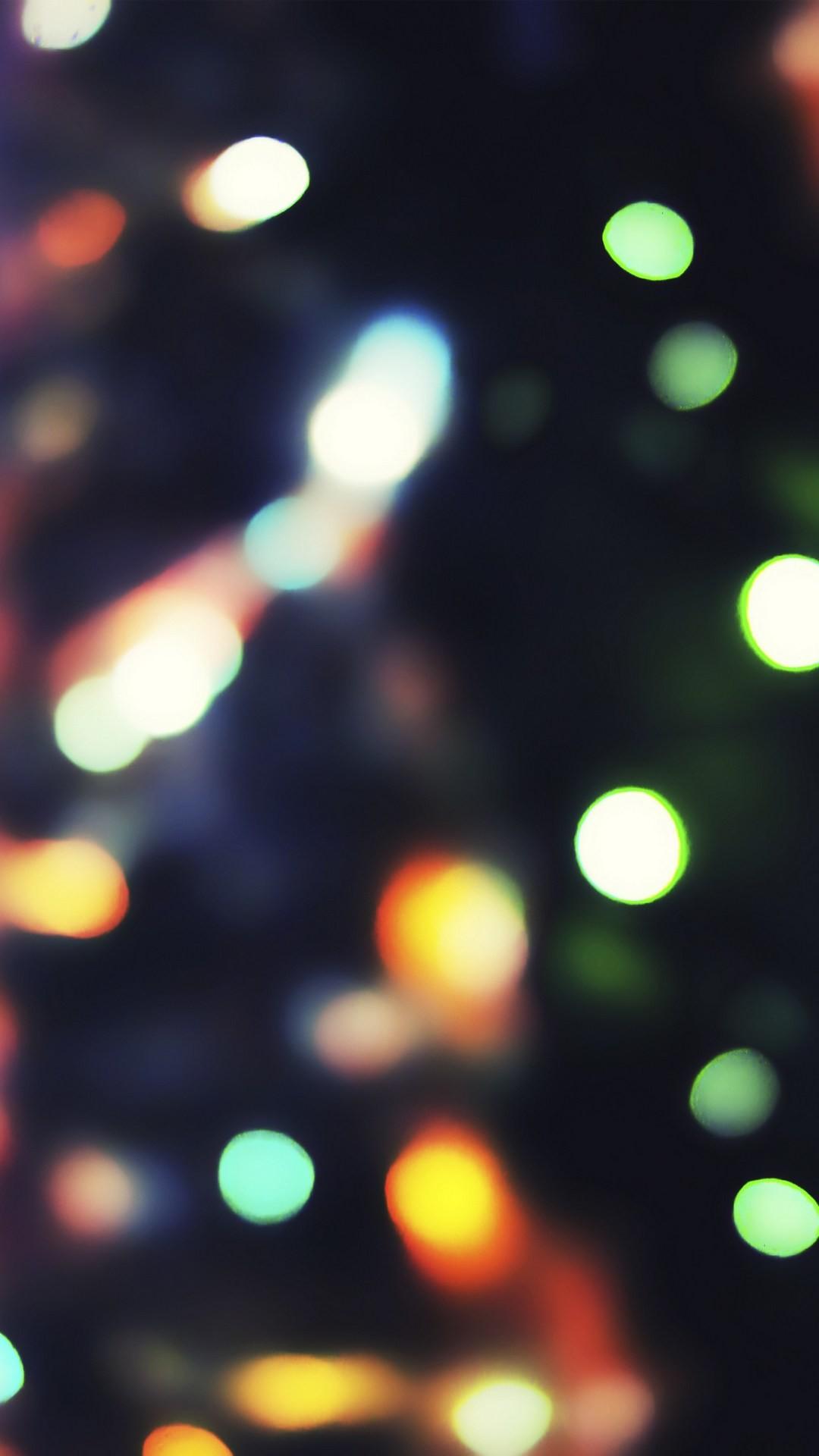 Neon Light Bokeh #iPhone #6 #plus #wallpaper