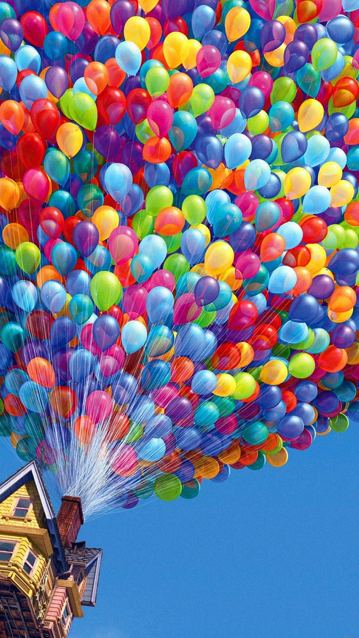 Colorful House Air Balloons iPhone 6 Plus HD Wallpaper …