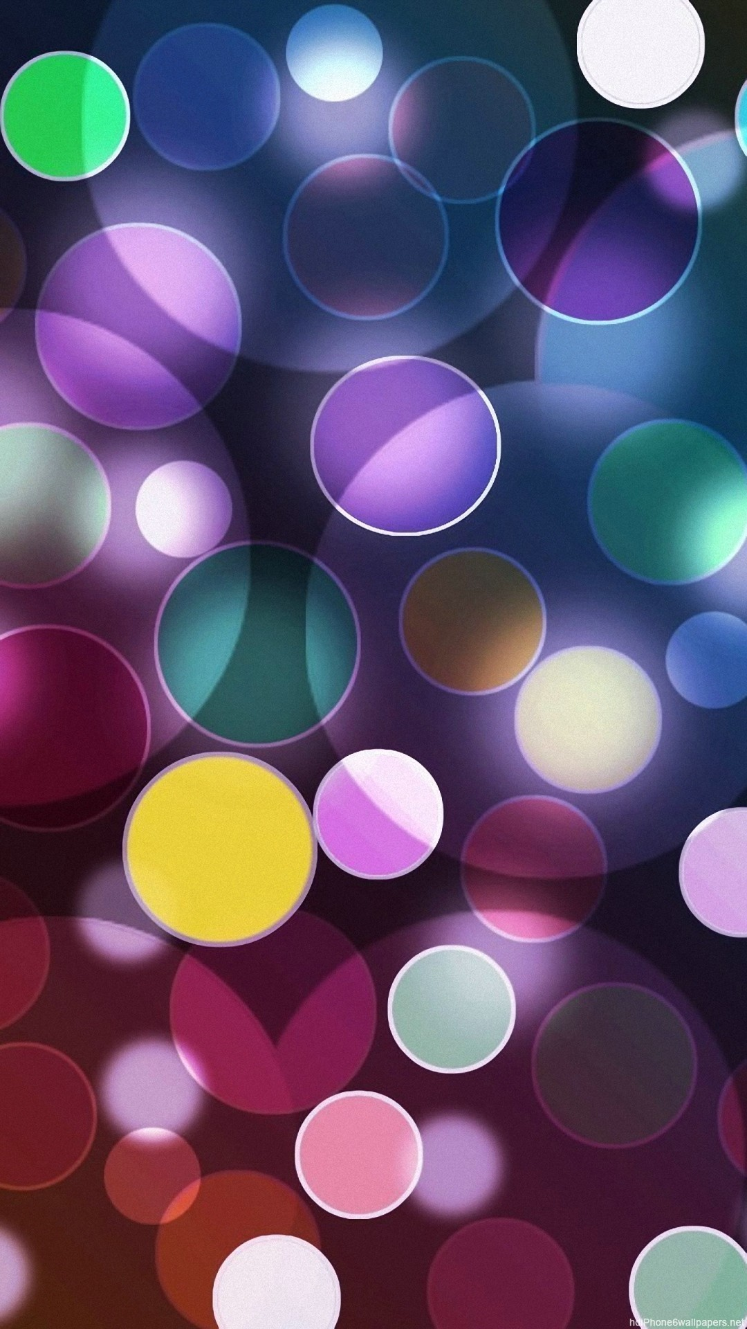 colorful circle light iPhone 6 wallpapers HD – 6 Plus backgrounds