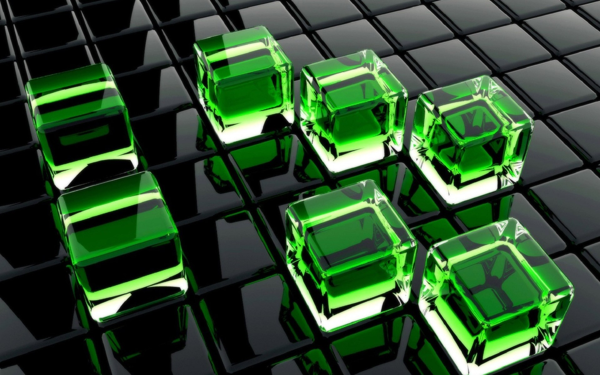Green and Black Cube Wallpapers HD HD Wallpapers Full HD Wallpapers