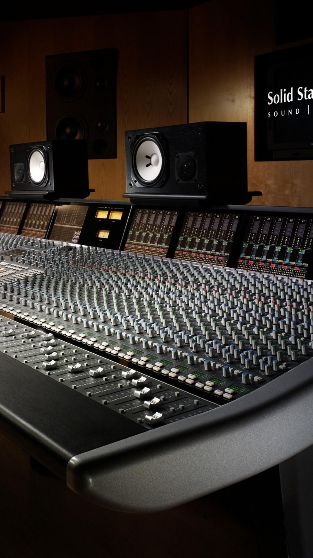 Preview wallpaper sound recording, studio, equipment 1080×1920